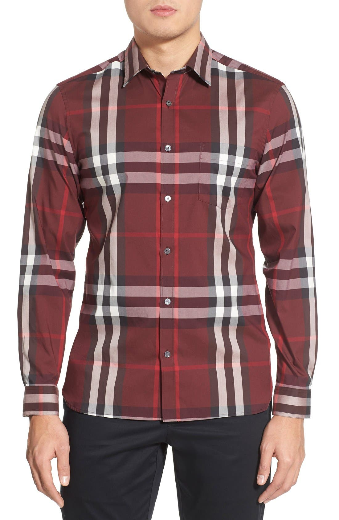 Nelson Check Sport Shirt,                             Main thumbnail 23, color,