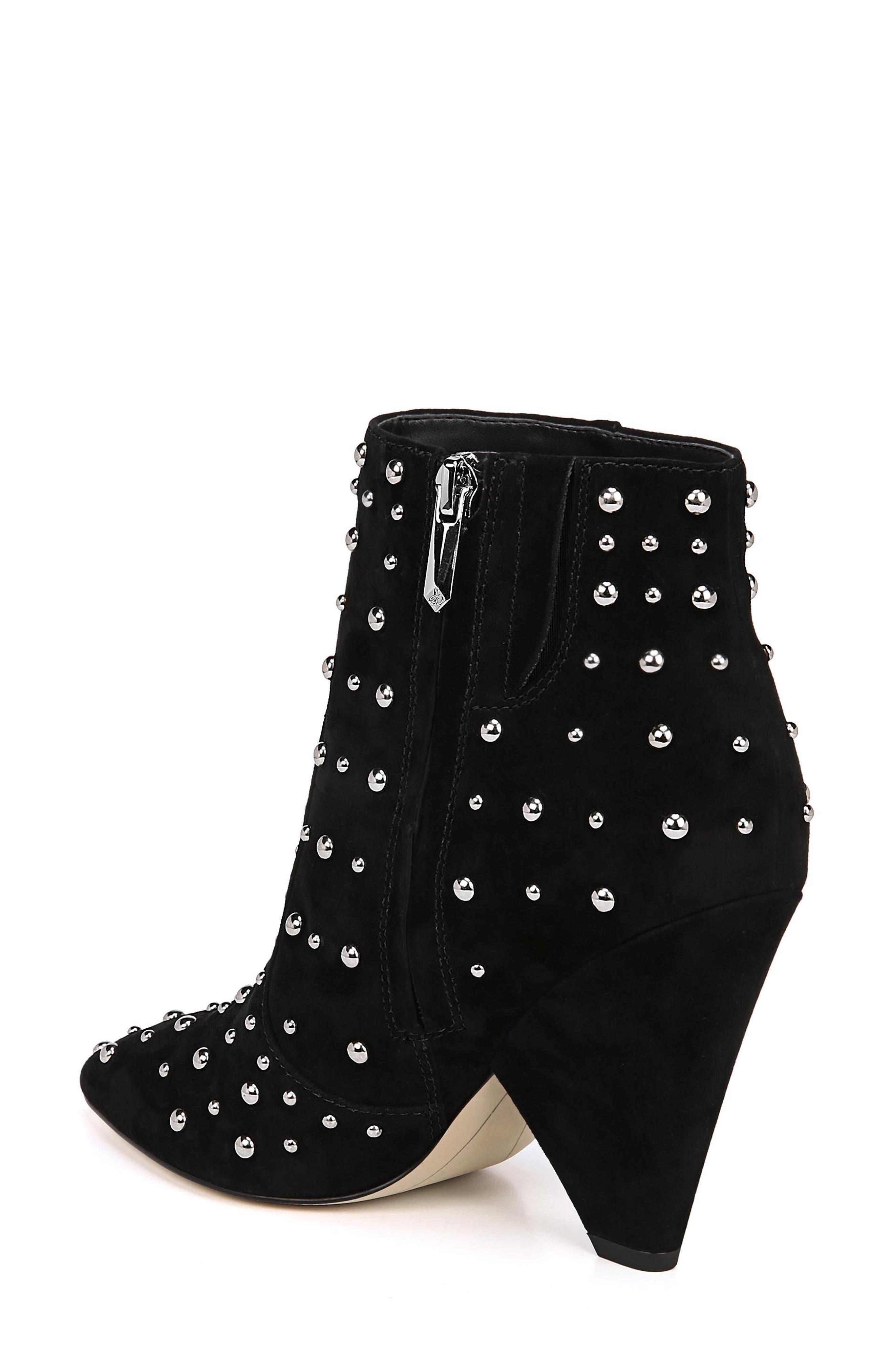 Roya Studded Boot,                             Alternate thumbnail 2, color,                             BLACK SUEDE