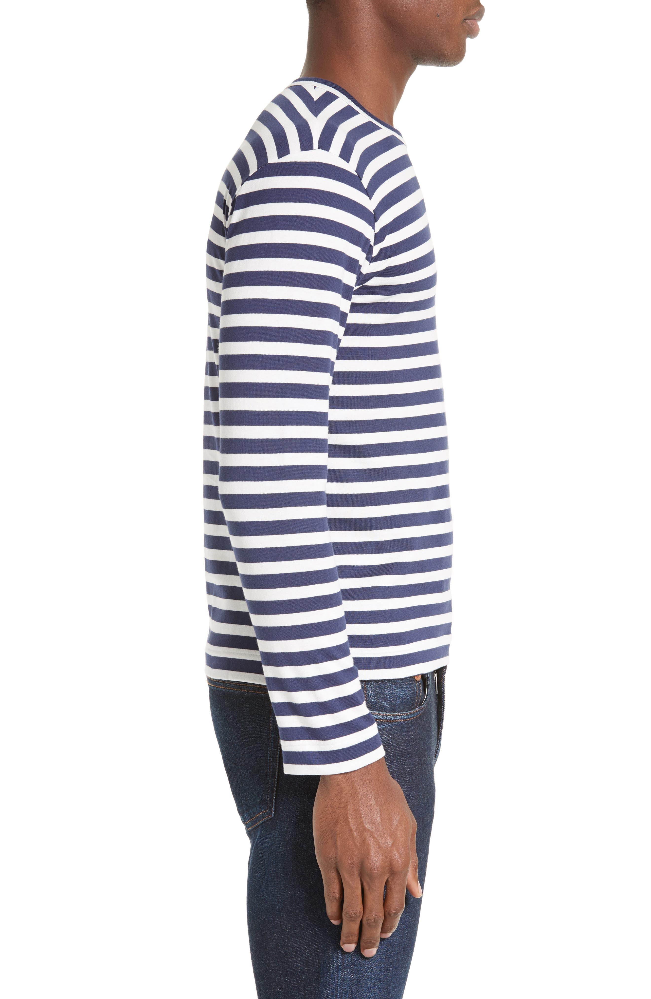 PLAY Stripe T-Shirt,                             Alternate thumbnail 3, color,