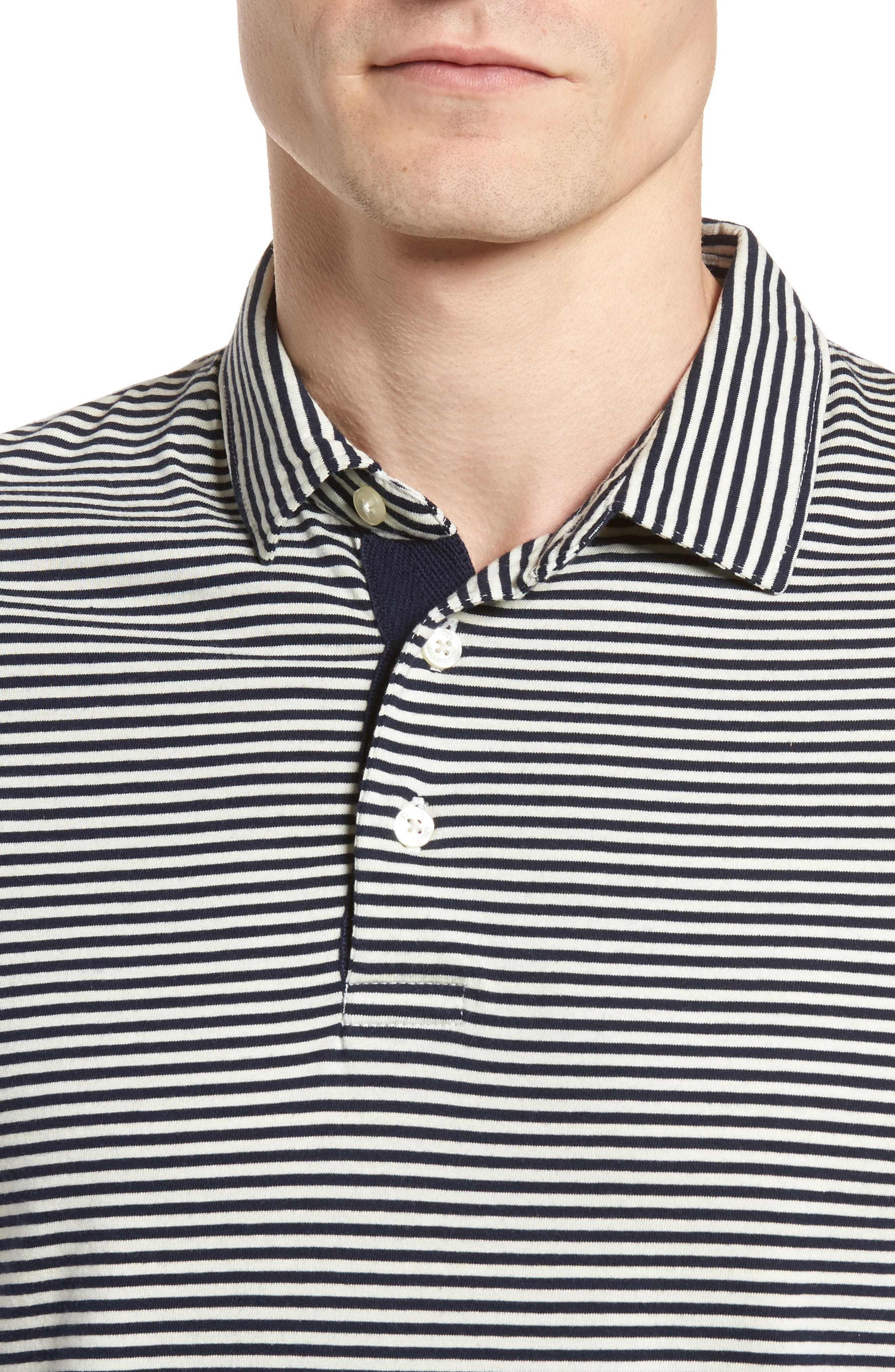 Pinstripe Polo,                             Alternate thumbnail 4, color,