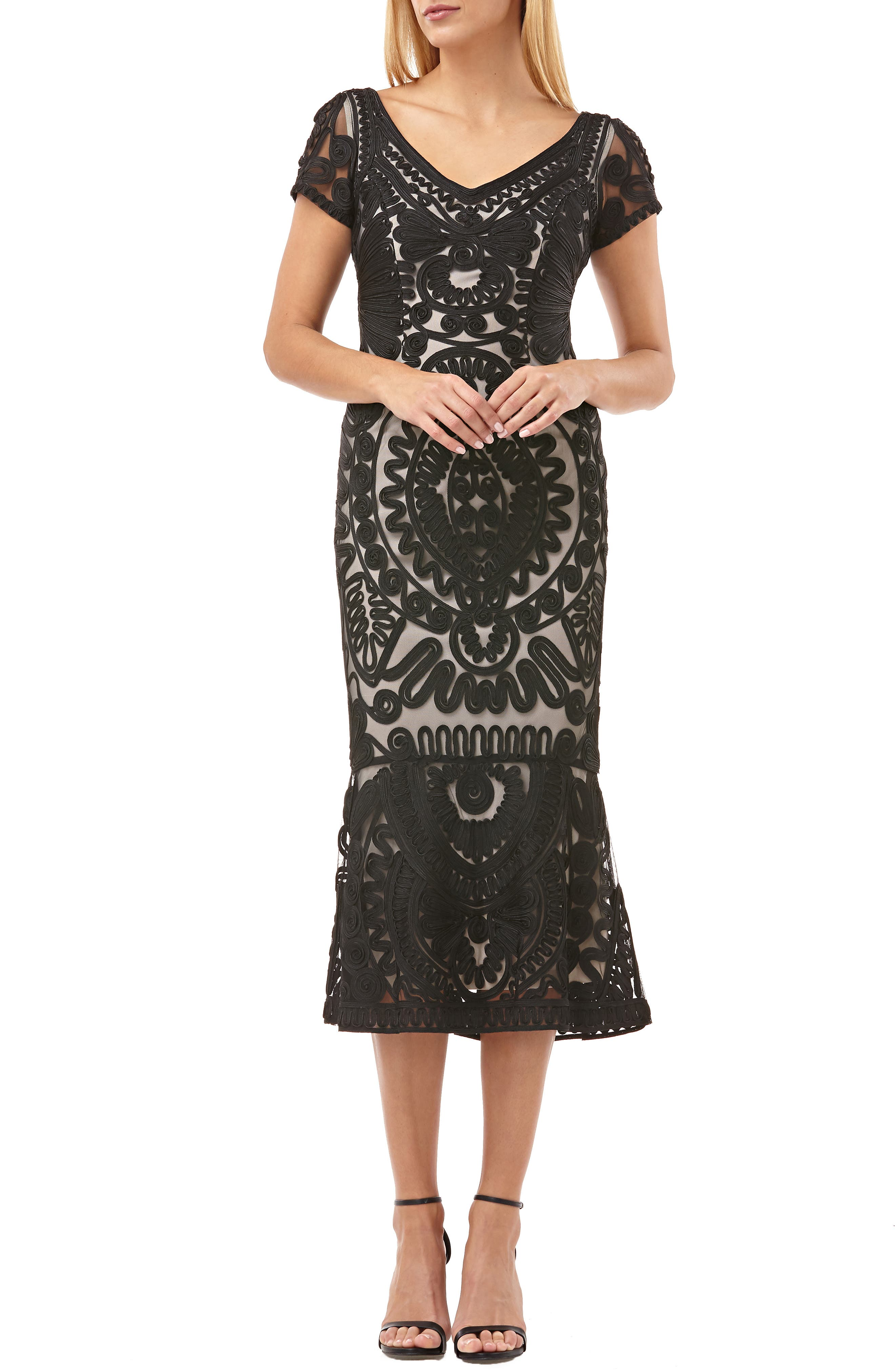 Js Collections Dresses SOUTACHE TRUMPET DRESS
