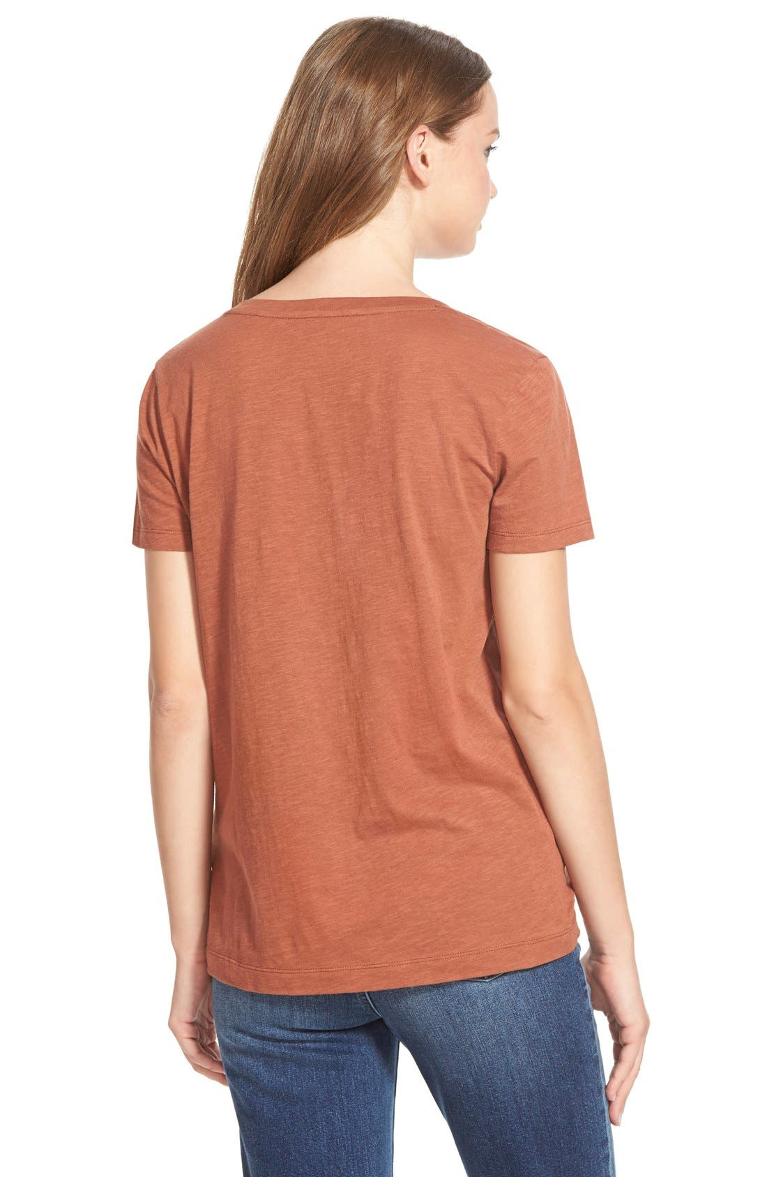Whisper Cotton V-Neck Pocket Tee,                             Alternate thumbnail 72, color,