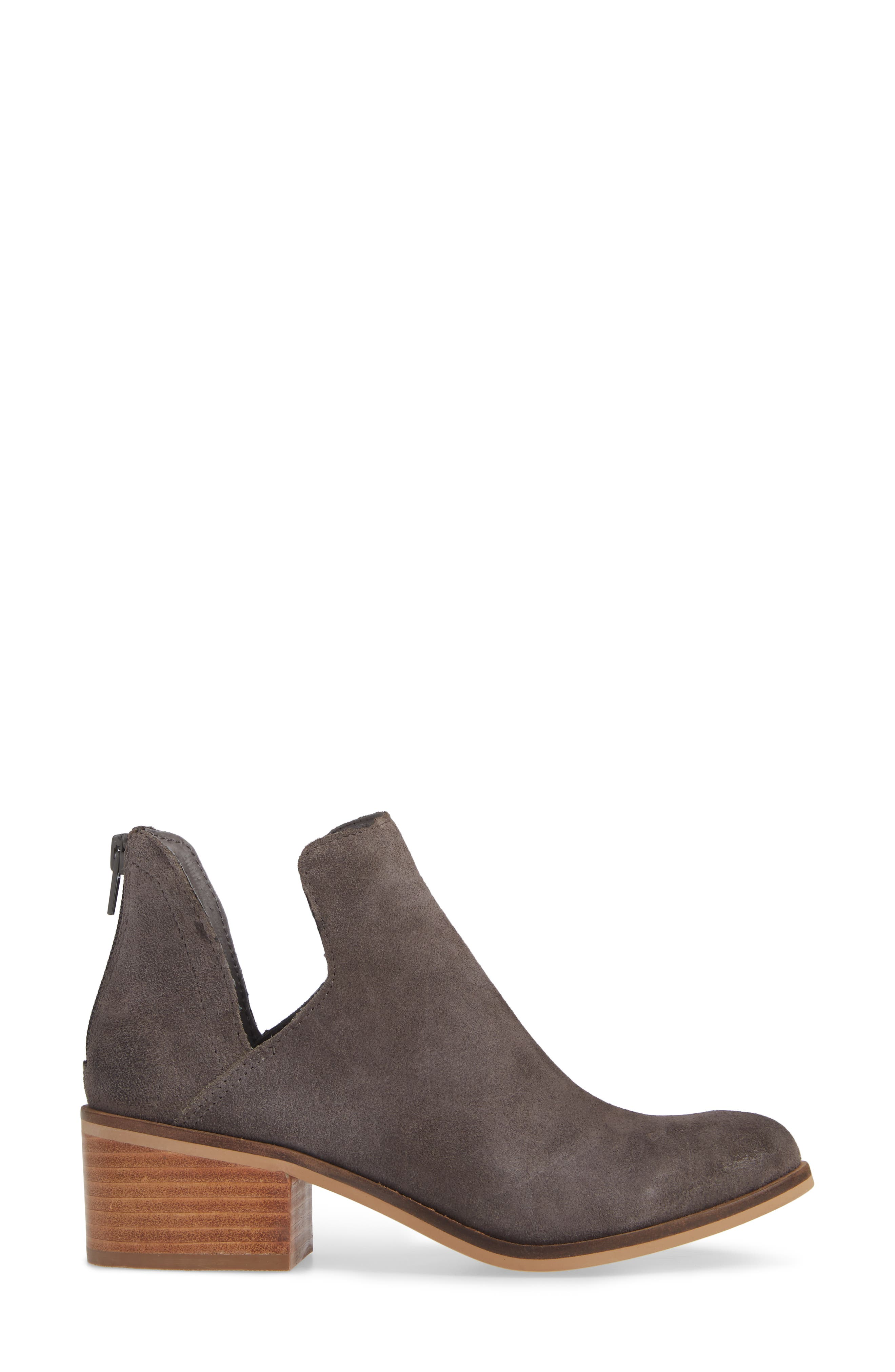 Lancaster Bootie,                             Alternate thumbnail 3, color,                             GREY SUEDE