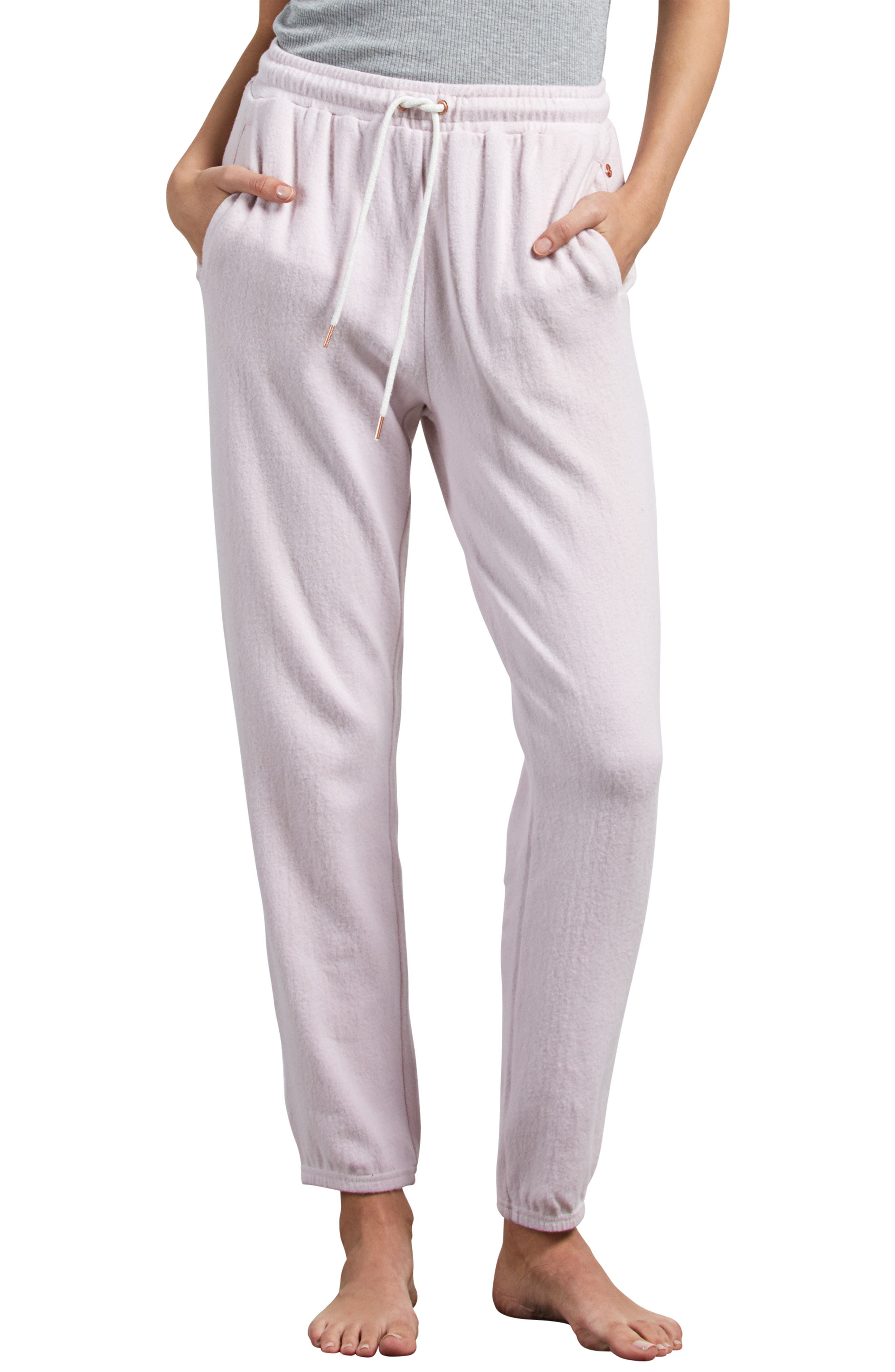 Lil Fleece Sweatpants,                         Main,                         color, LIGHT PURPLE