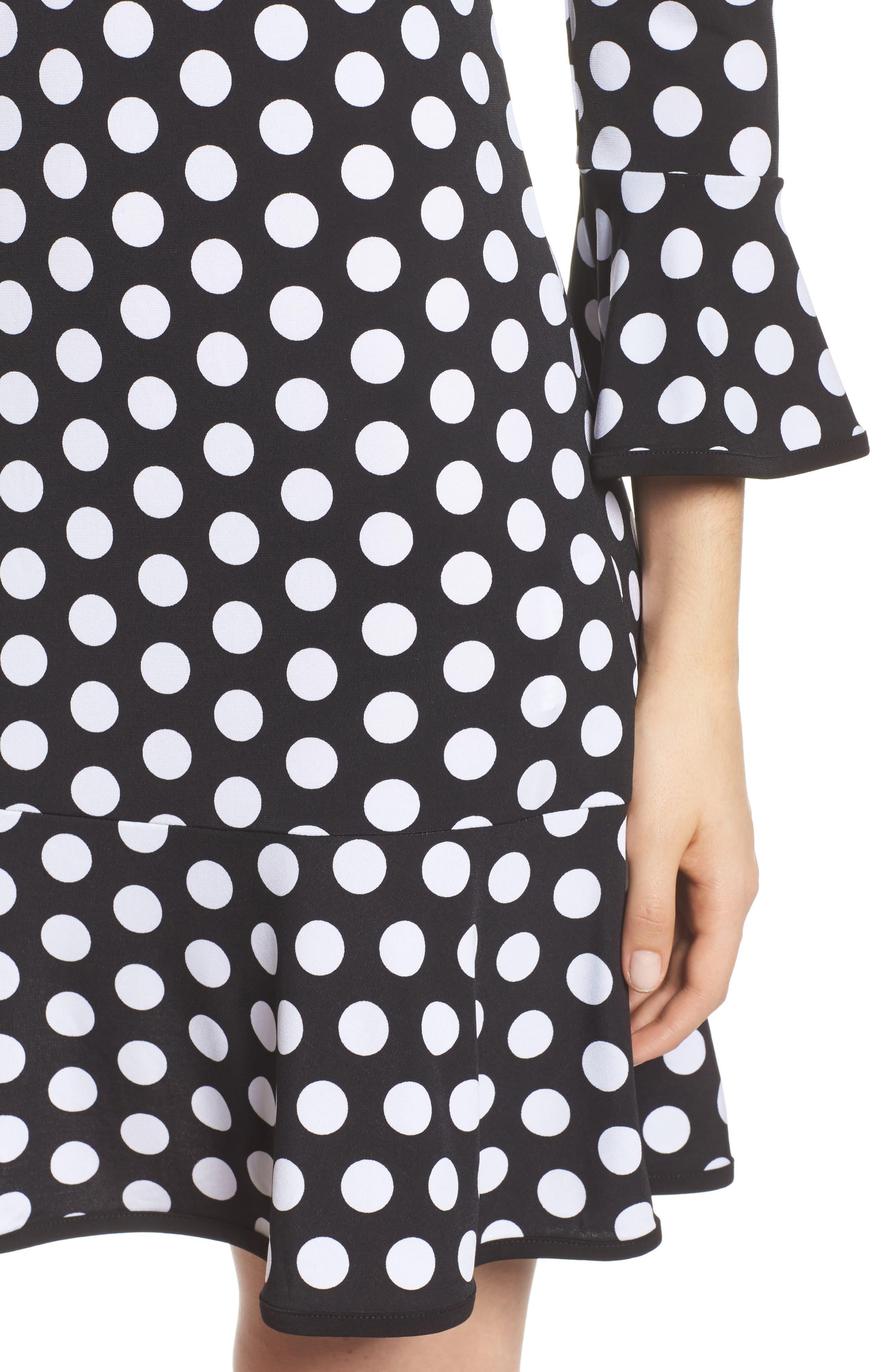 Simple Dot Swing Dress,                             Alternate thumbnail 4, color,