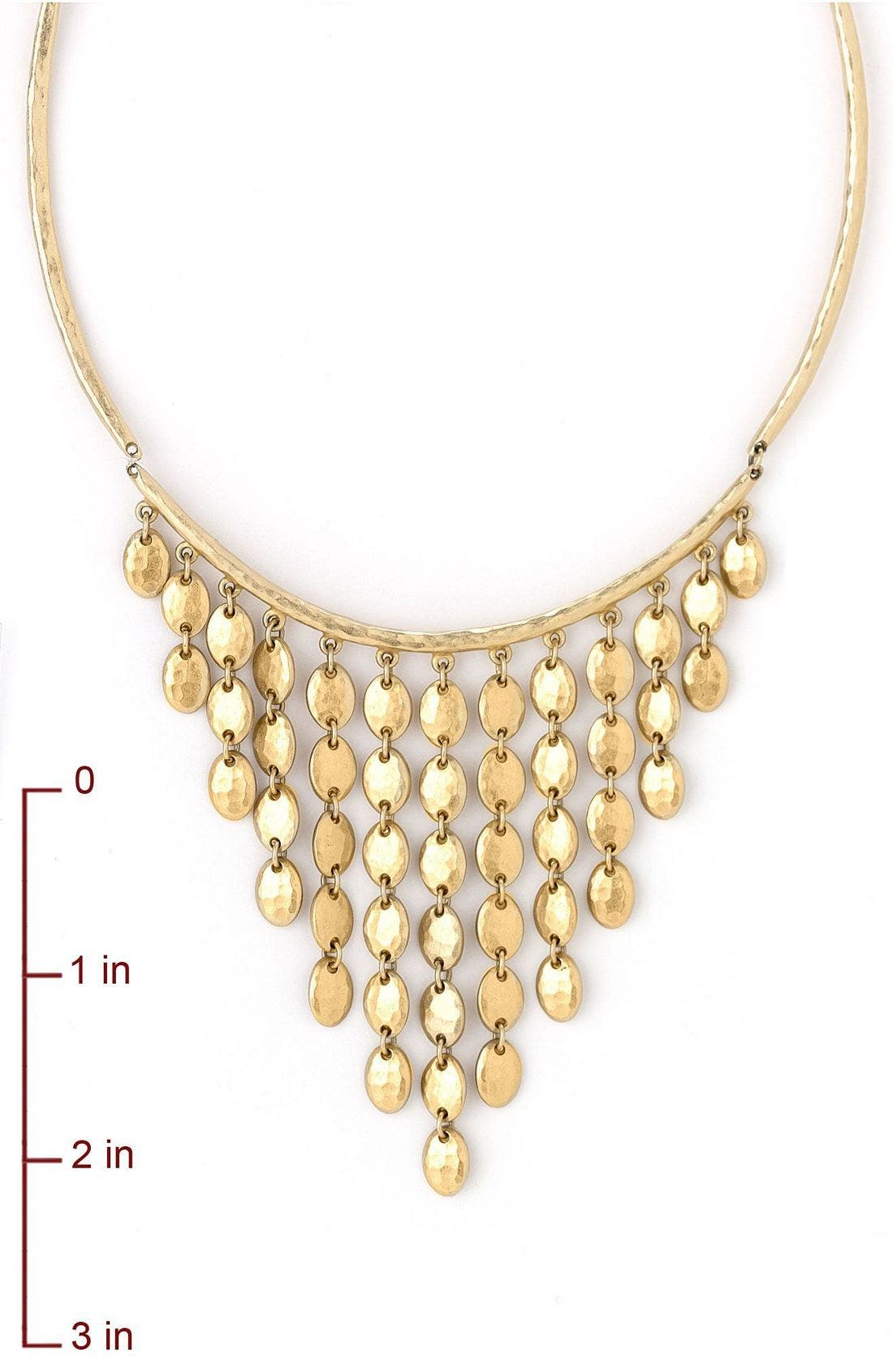 Goldtone Bib Necklace,                             Alternate thumbnail 2, color,                             710