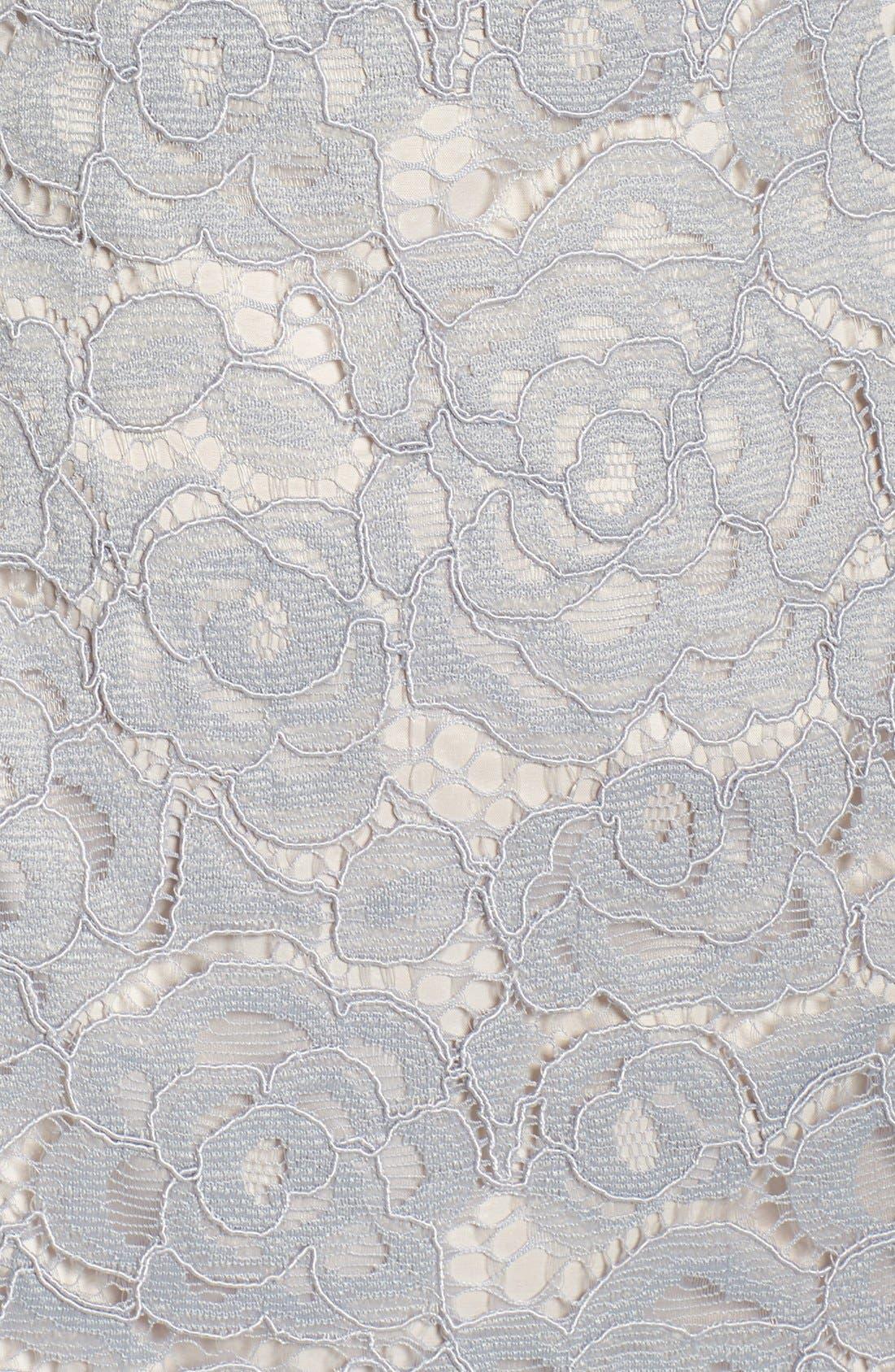 Off the Shoulder Lace Sheath Dress,                             Alternate thumbnail 37, color,