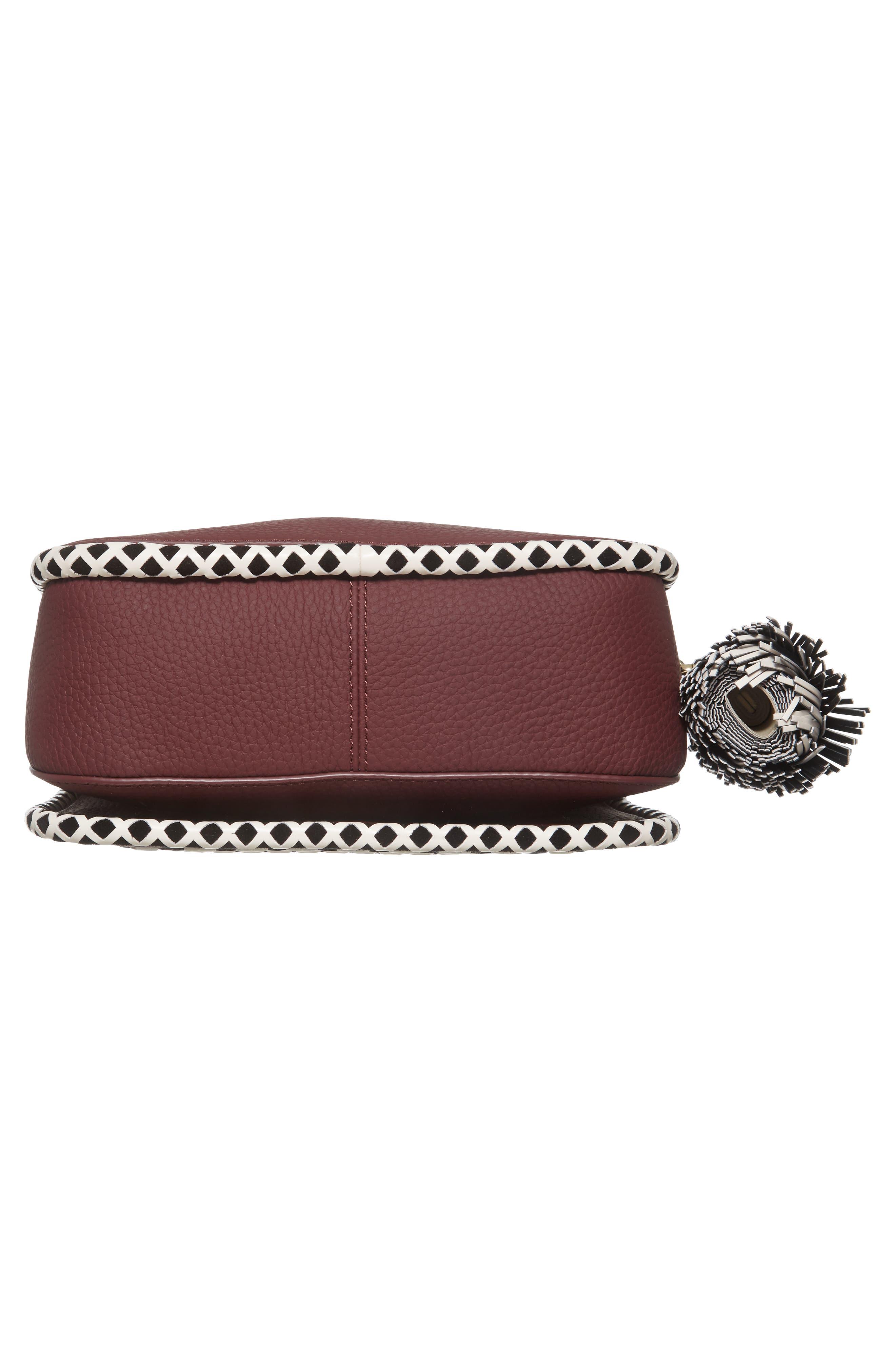 crown street - jasper leather saddle bag,                             Alternate thumbnail 12, color,