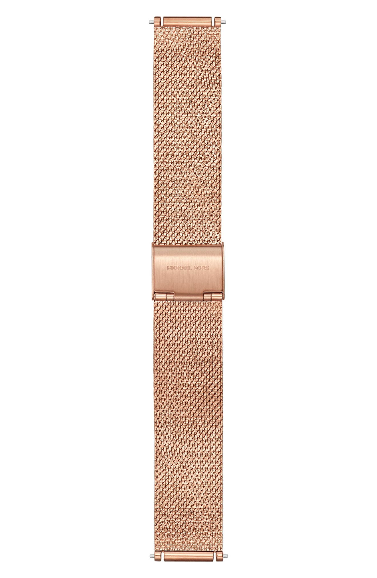Sofie 18mm Mesh Watch Strap,                             Main thumbnail 1, color,                             ROSE GOLD