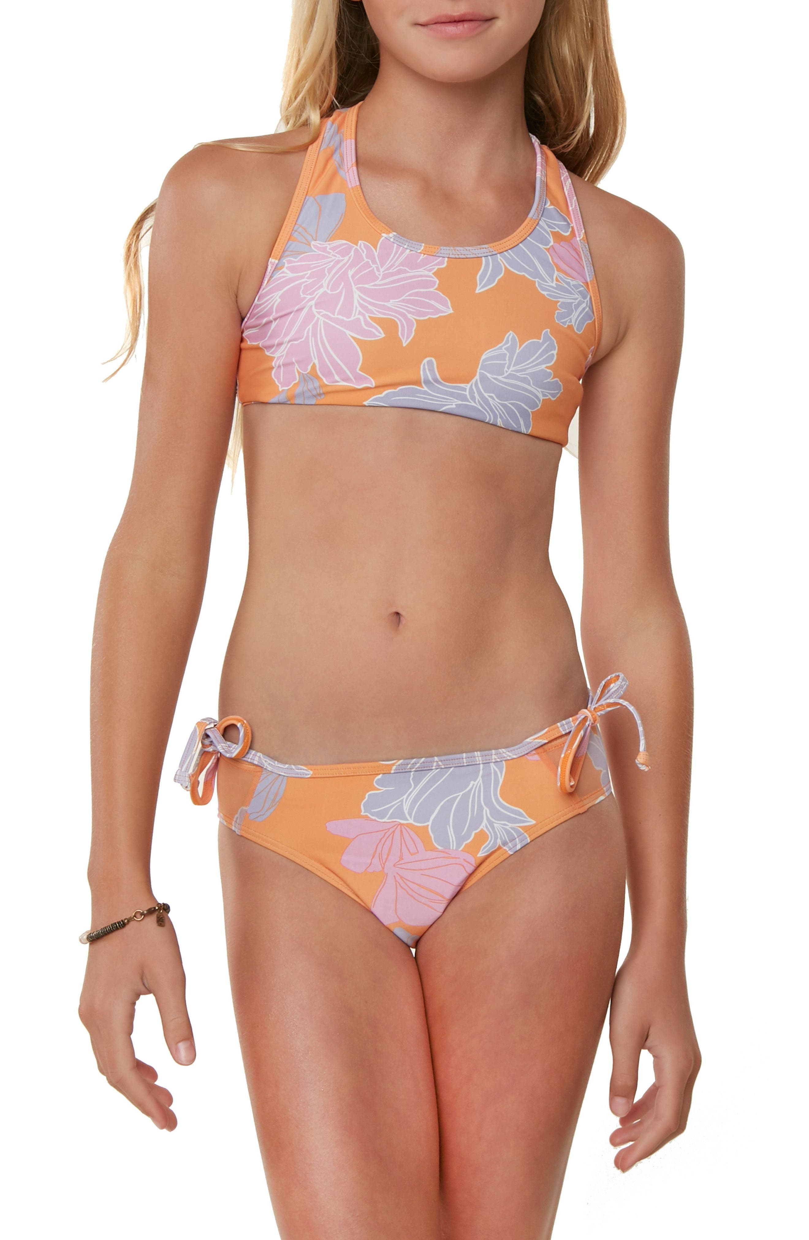 Zilla Floral Two-Piece Swimsuit,                             Alternate thumbnail 2, color,                             804