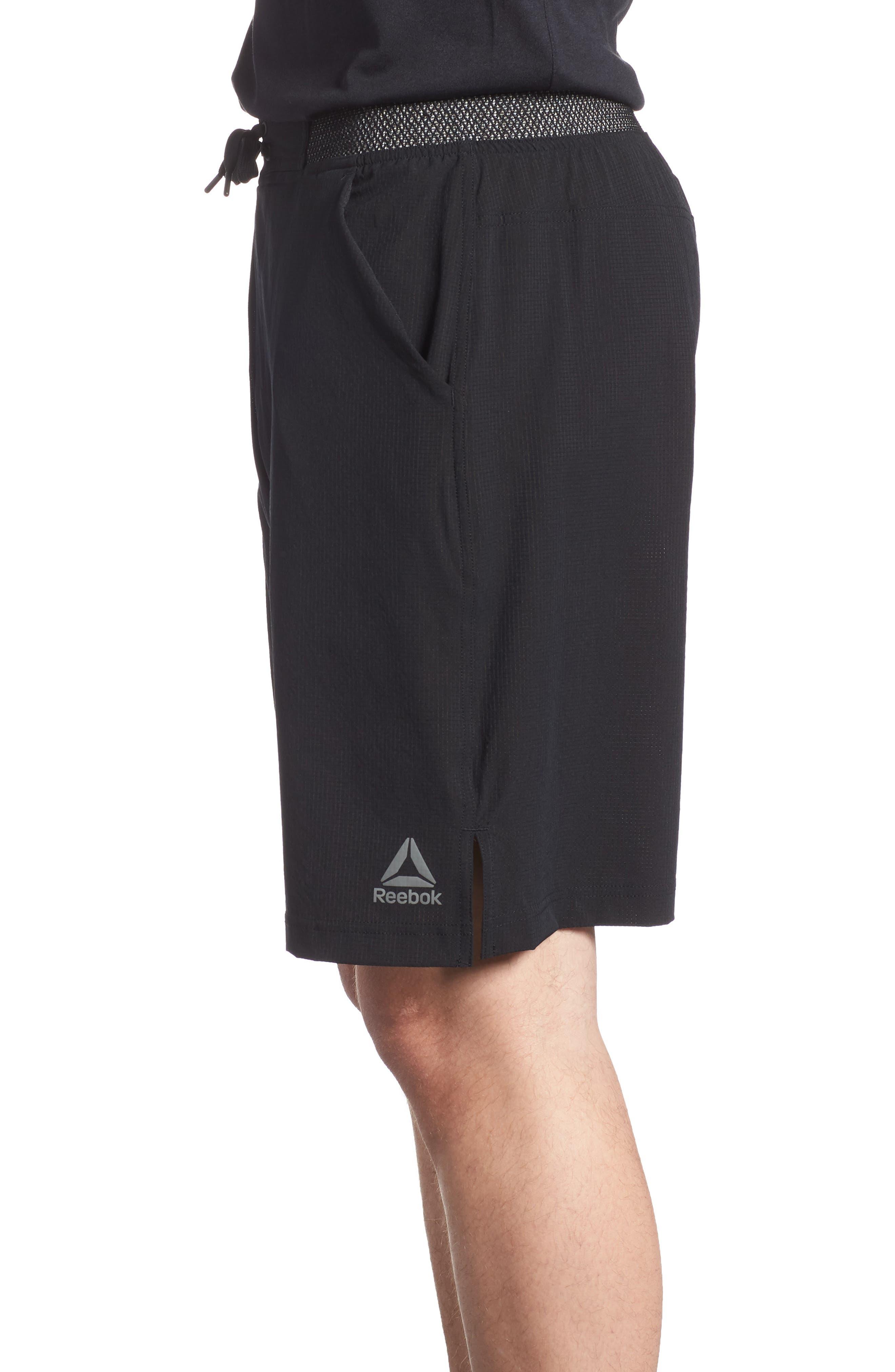 Epic Knit Shorts,                             Alternate thumbnail 3, color,                             BLACK