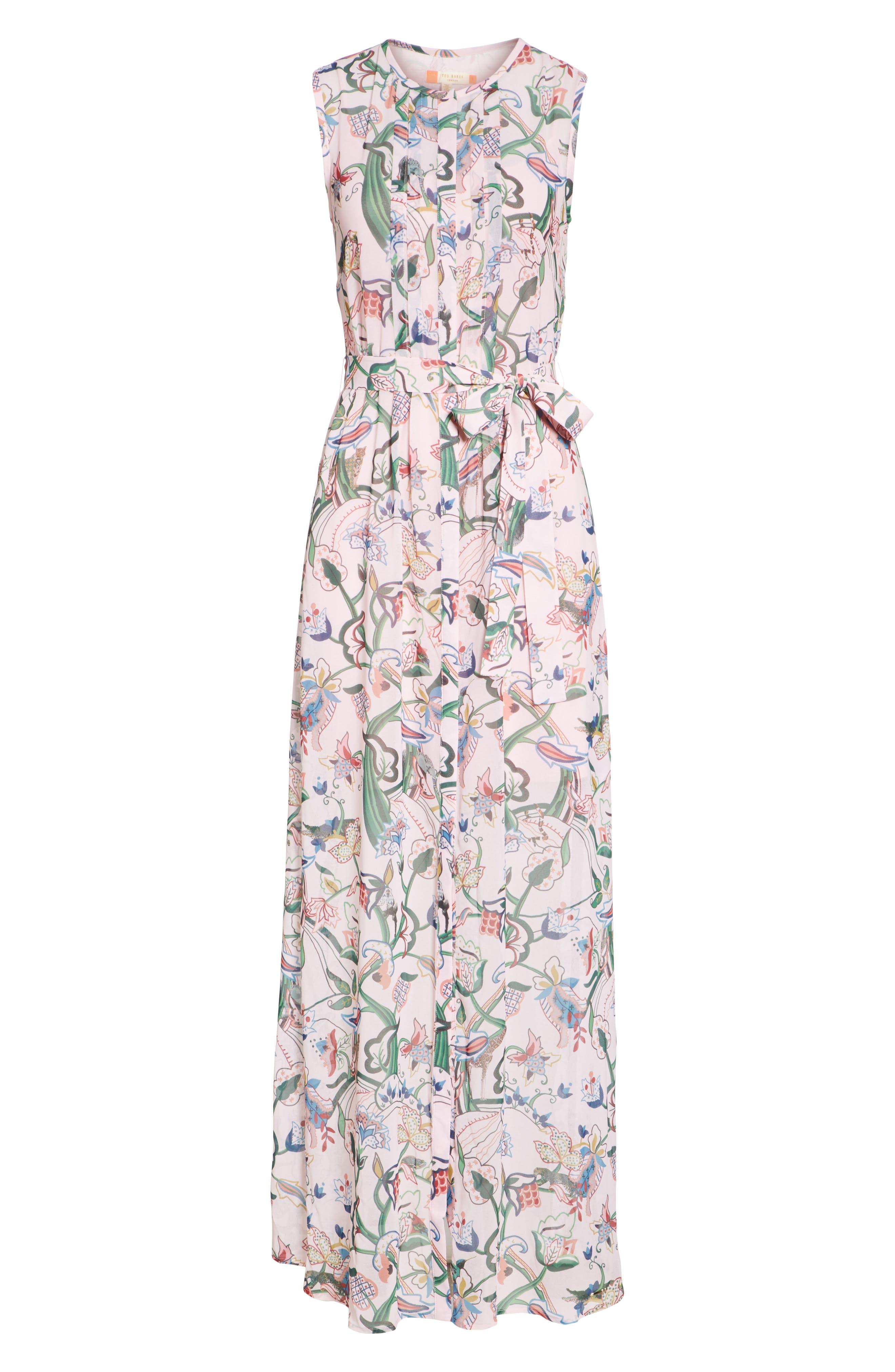 Susien Jungle Print Maxi Dress,                             Alternate thumbnail 6, color,
