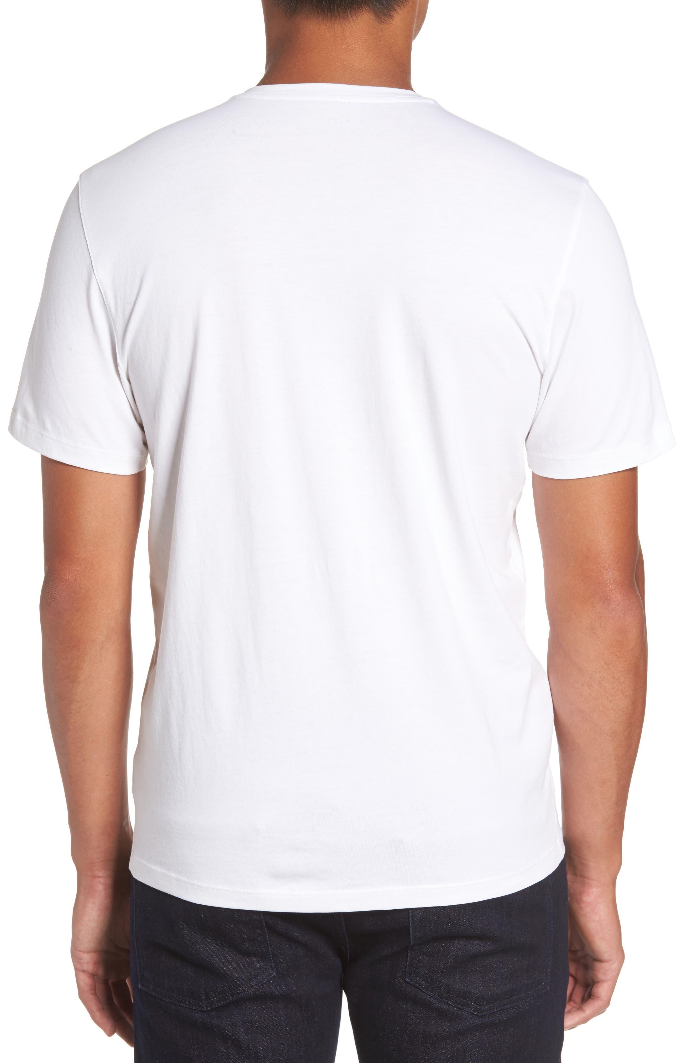 Mercer V-Neck T-Shirt,                             Alternate thumbnail 2, color,                             WHITE
