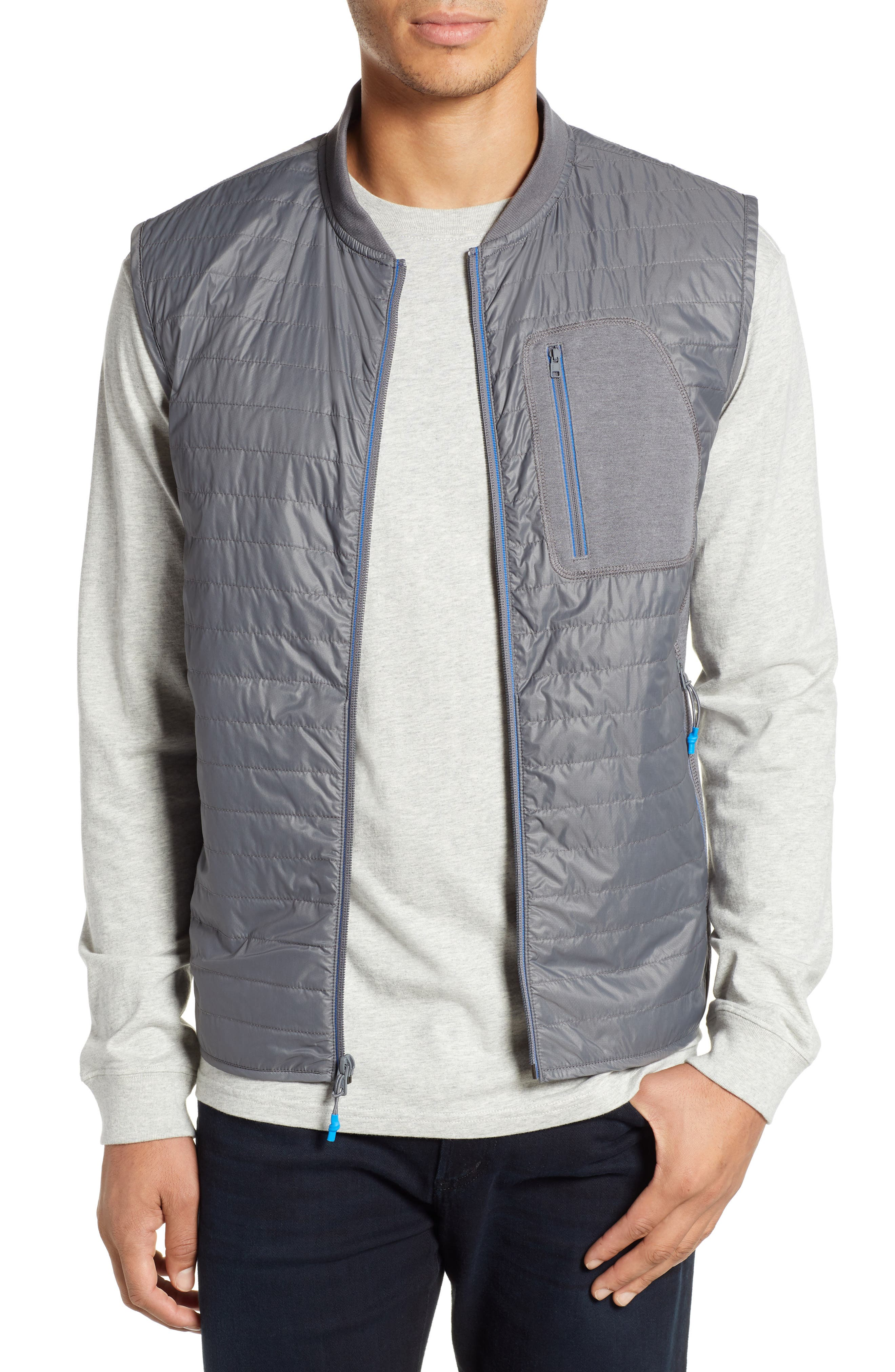 Forrest Creek Bomber Vest,                         Main,                         color, SMOKED PEARL