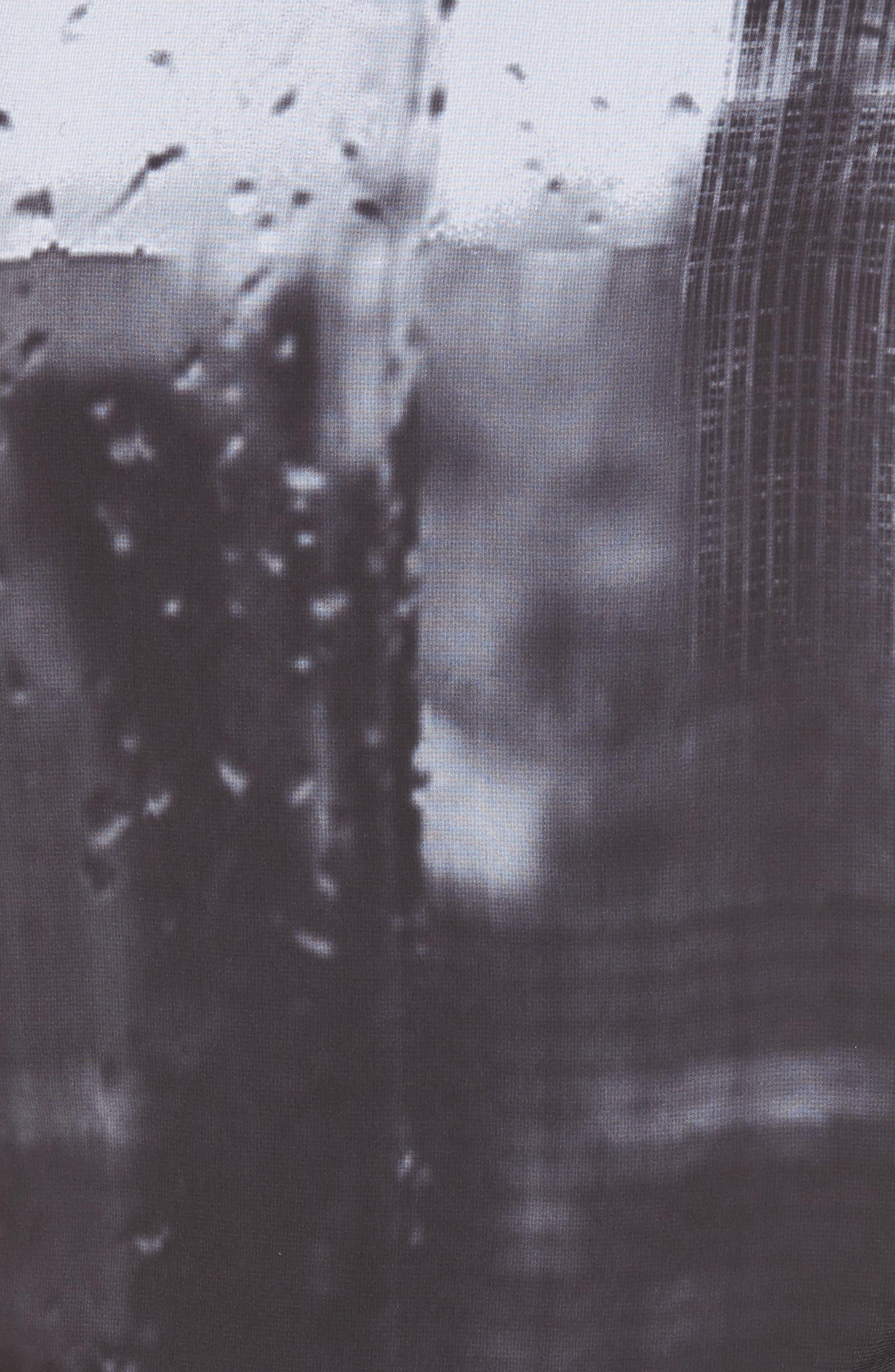 Side Tie Tee,                             Alternate thumbnail 5, color,                             BLACK