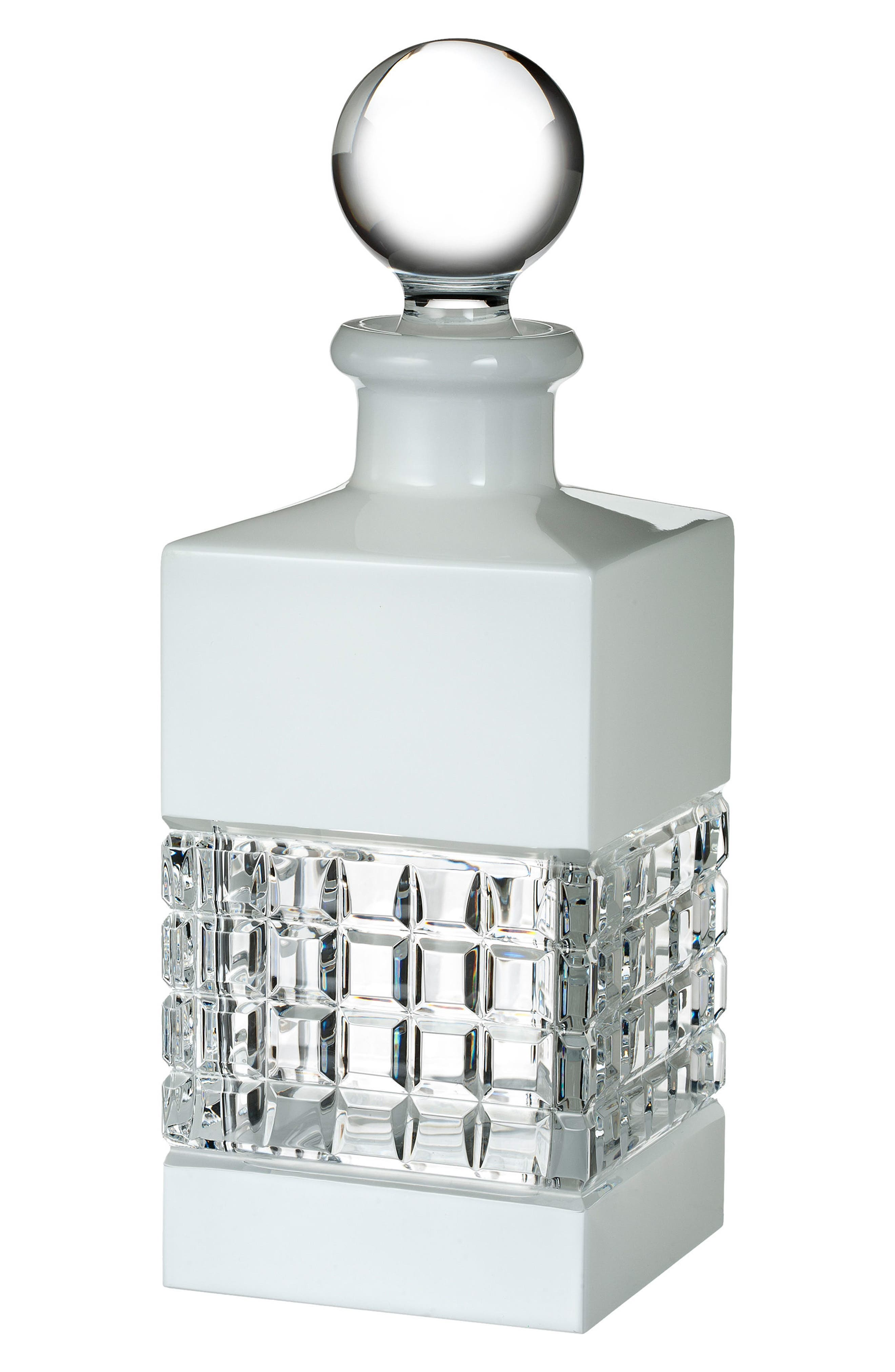 London White Lead Crystal Decanter,                             Main thumbnail 1, color,                             100