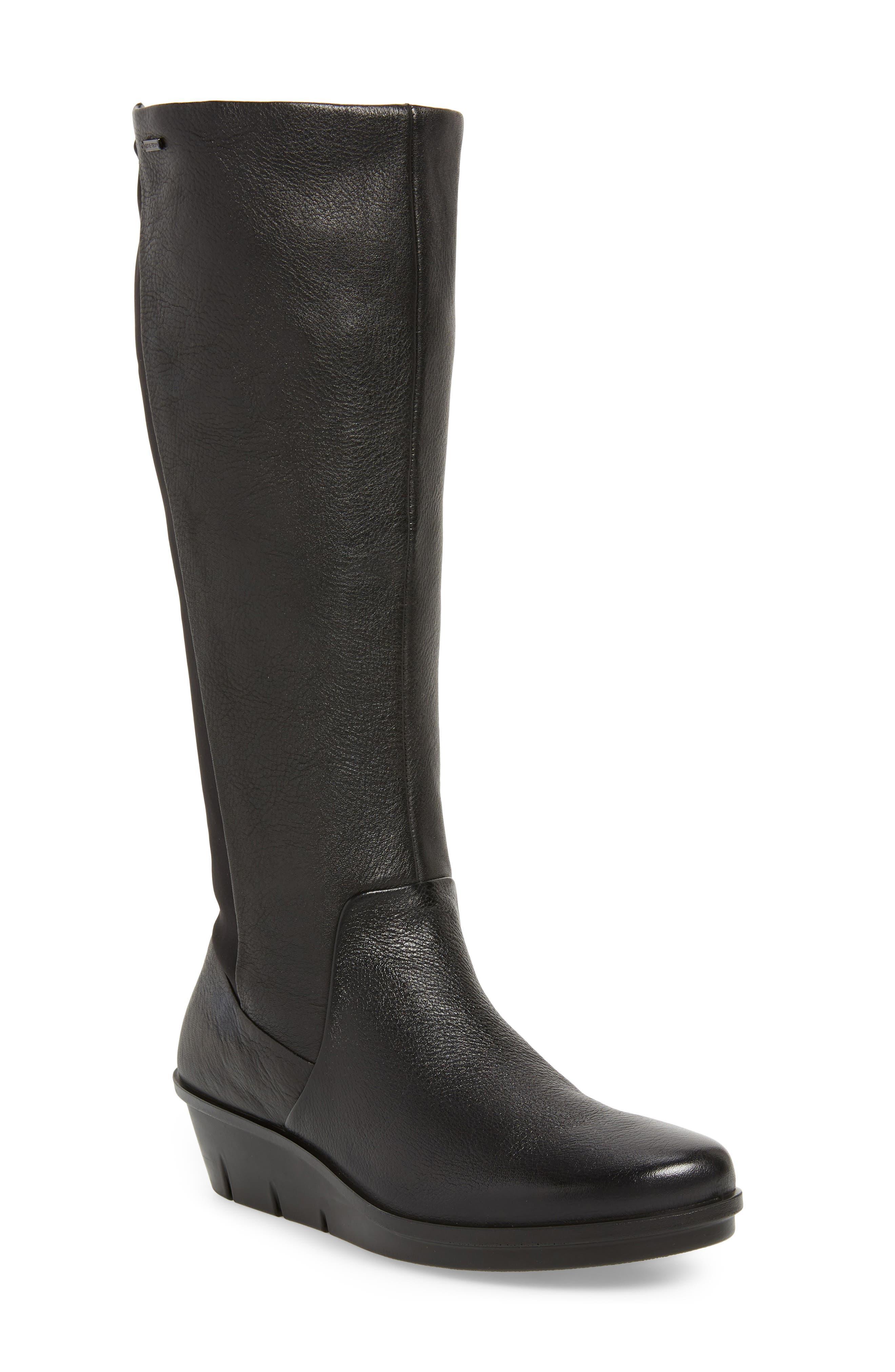 Ecco Skyler Gore-Tex Knee High Waterproof Boot, Black