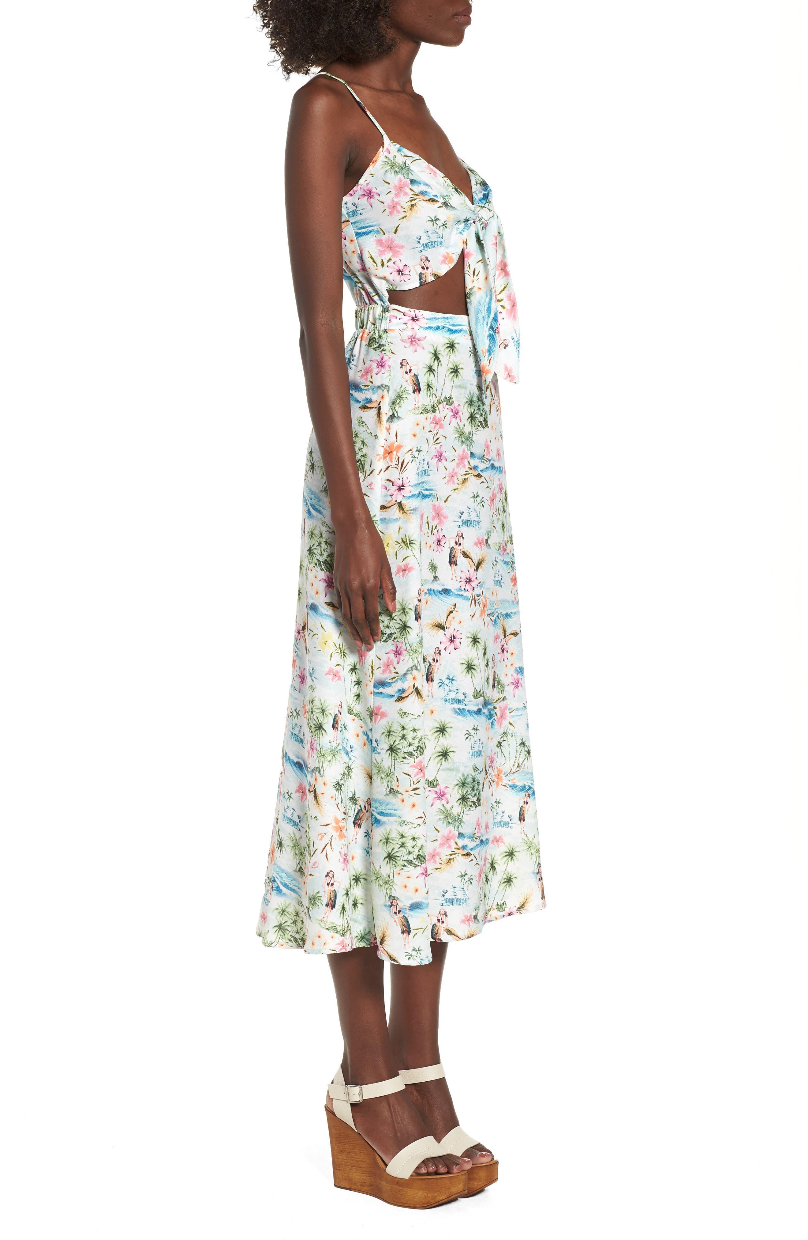 Moby Tie Maxi Dress,                             Alternate thumbnail 3, color,                             100