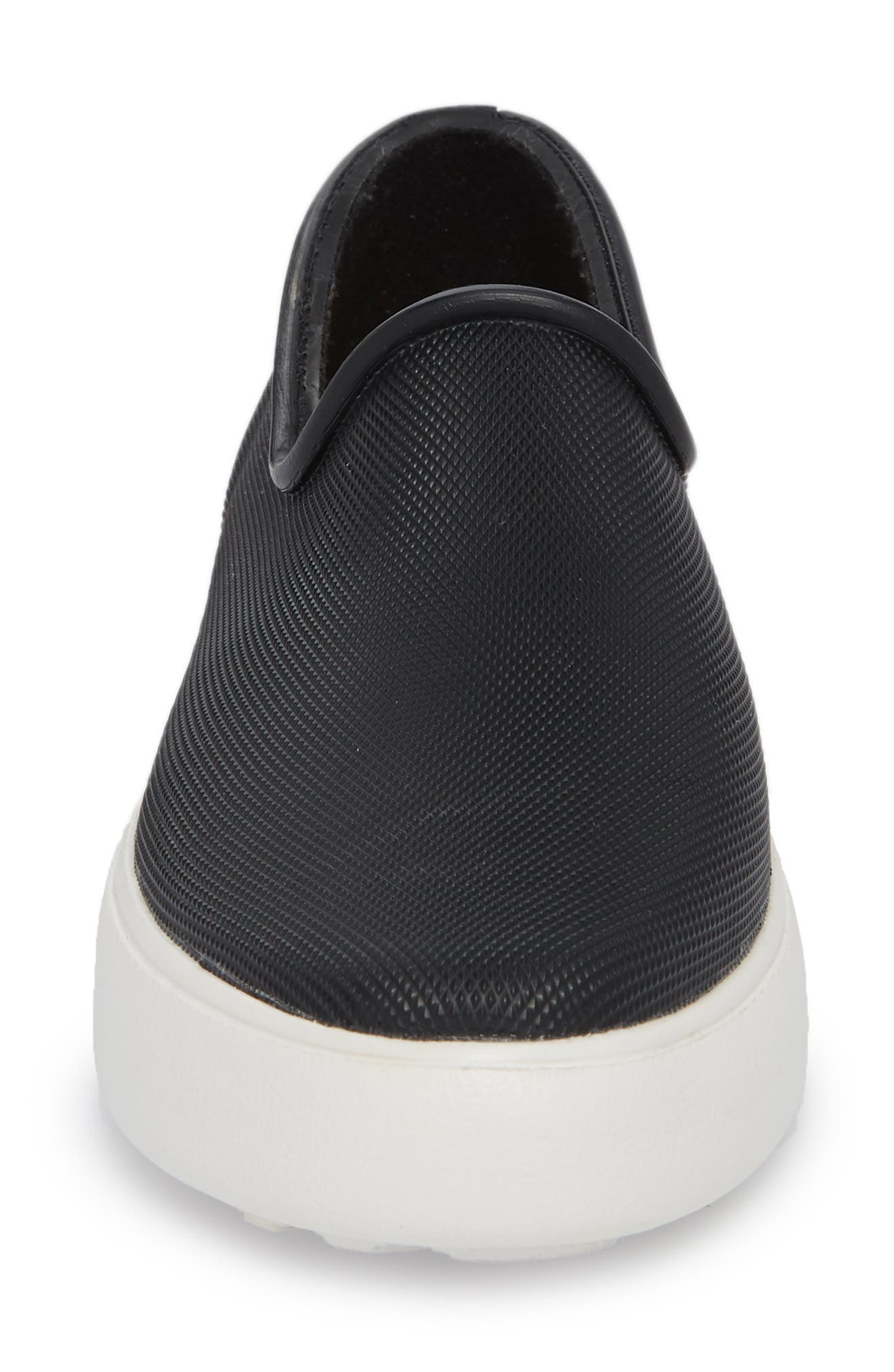 Rainy Day Waterproof Slip-On Sneaker,                             Alternate thumbnail 4, color,                             001