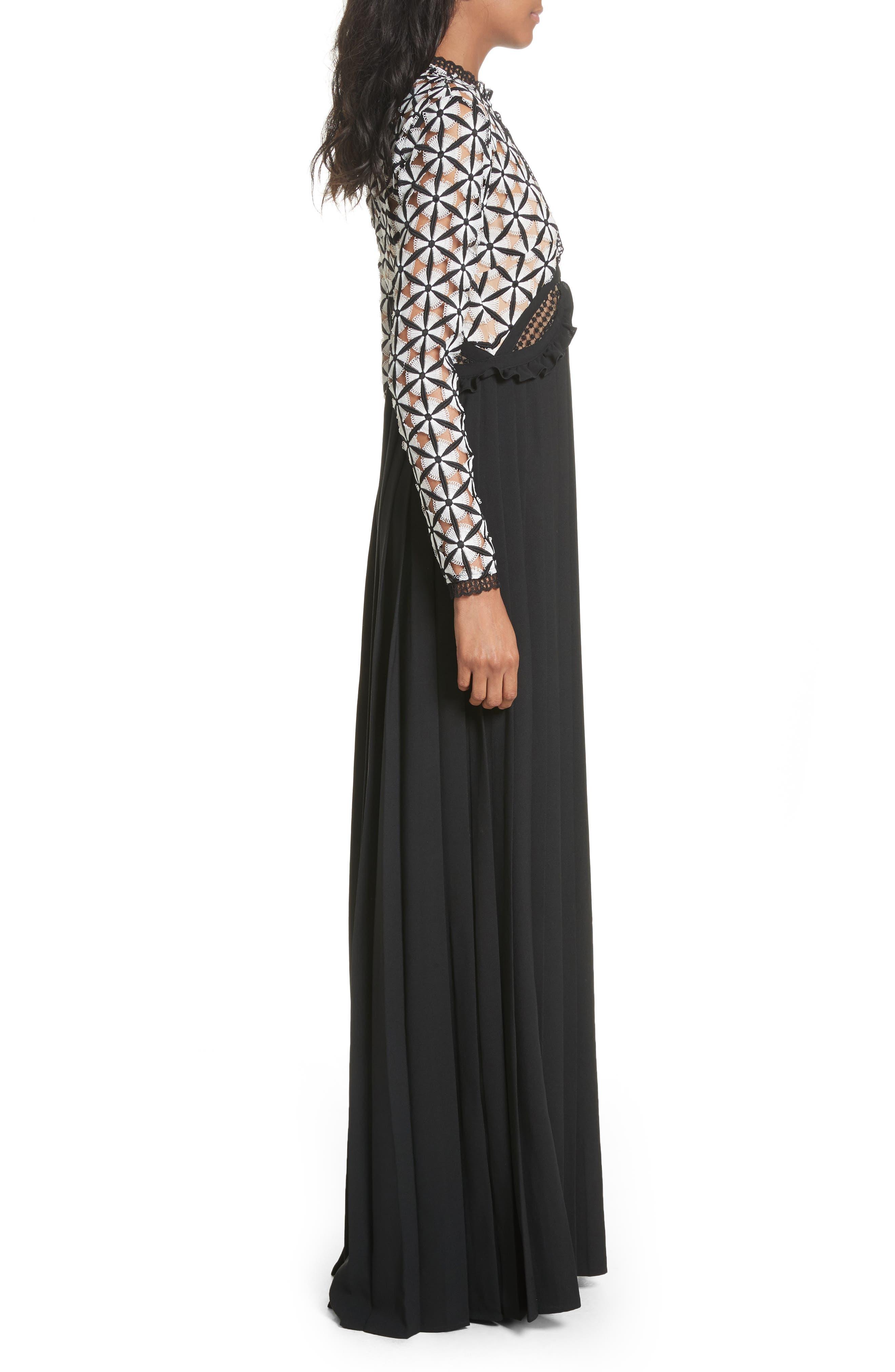 Guipure Lace Maxi Dress,                             Alternate thumbnail 3, color,