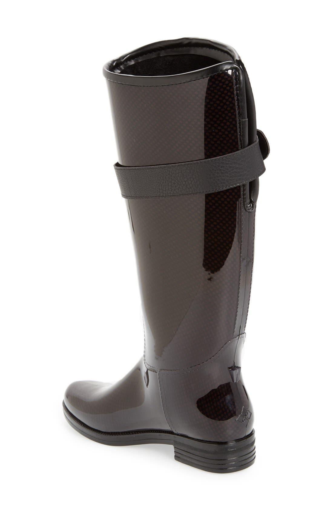 'Bristol' Weatherproof Knee High Rain Boot,                             Alternate thumbnail 2, color,                             001