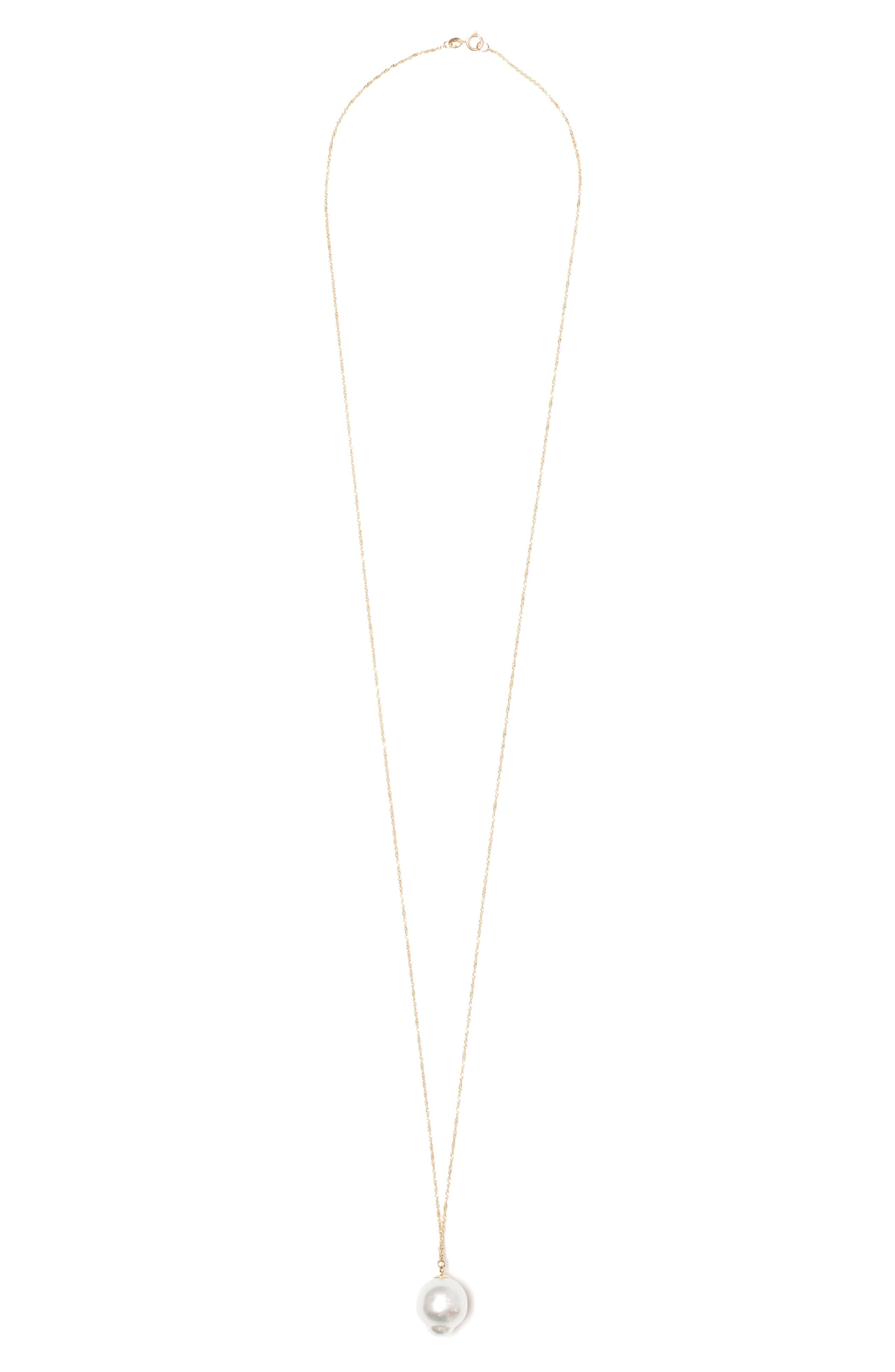 Pearl Pendant Necklace,                             Main thumbnail 1, color,