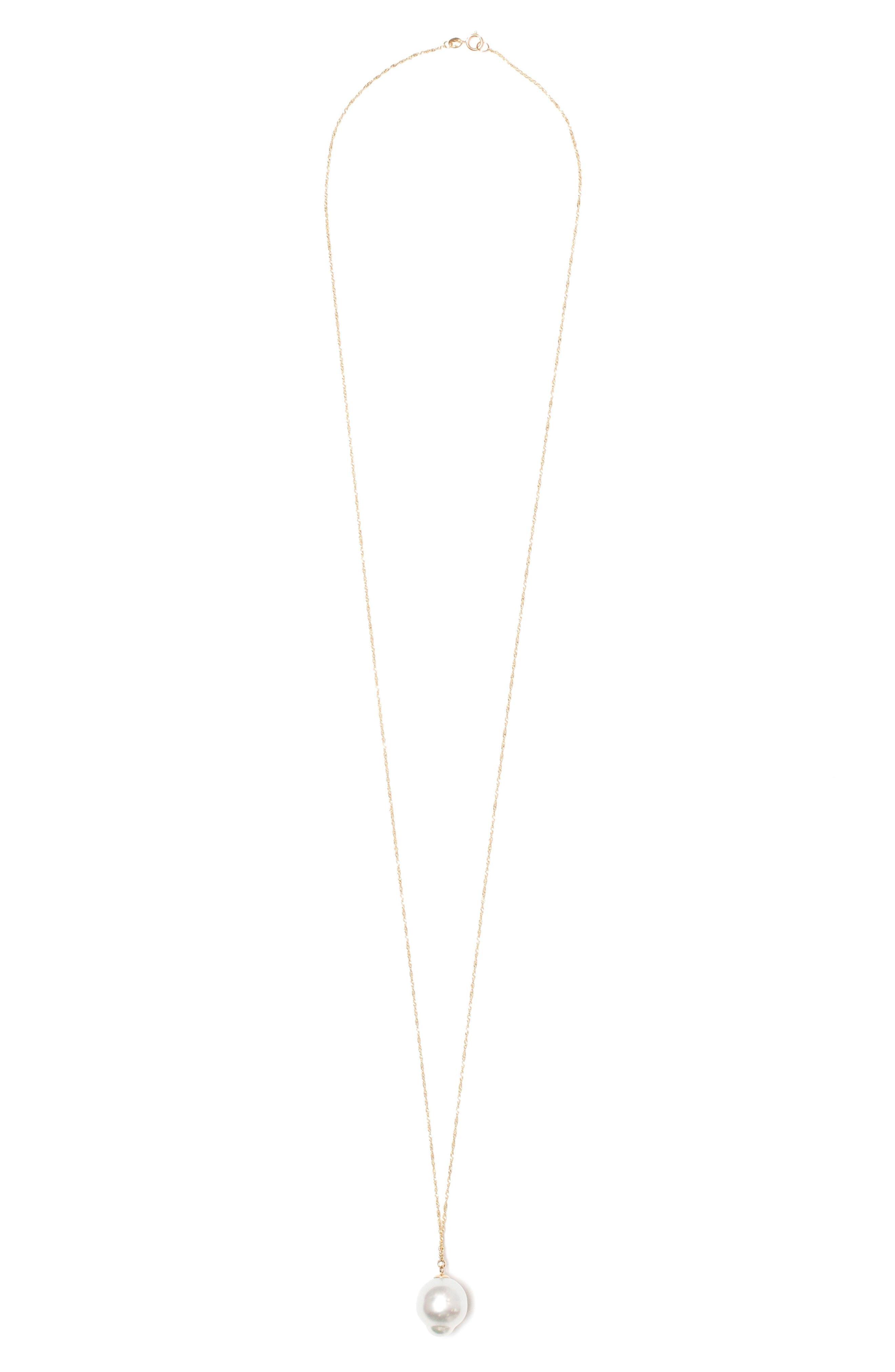 Pearl Pendant Necklace,                         Main,                         color,