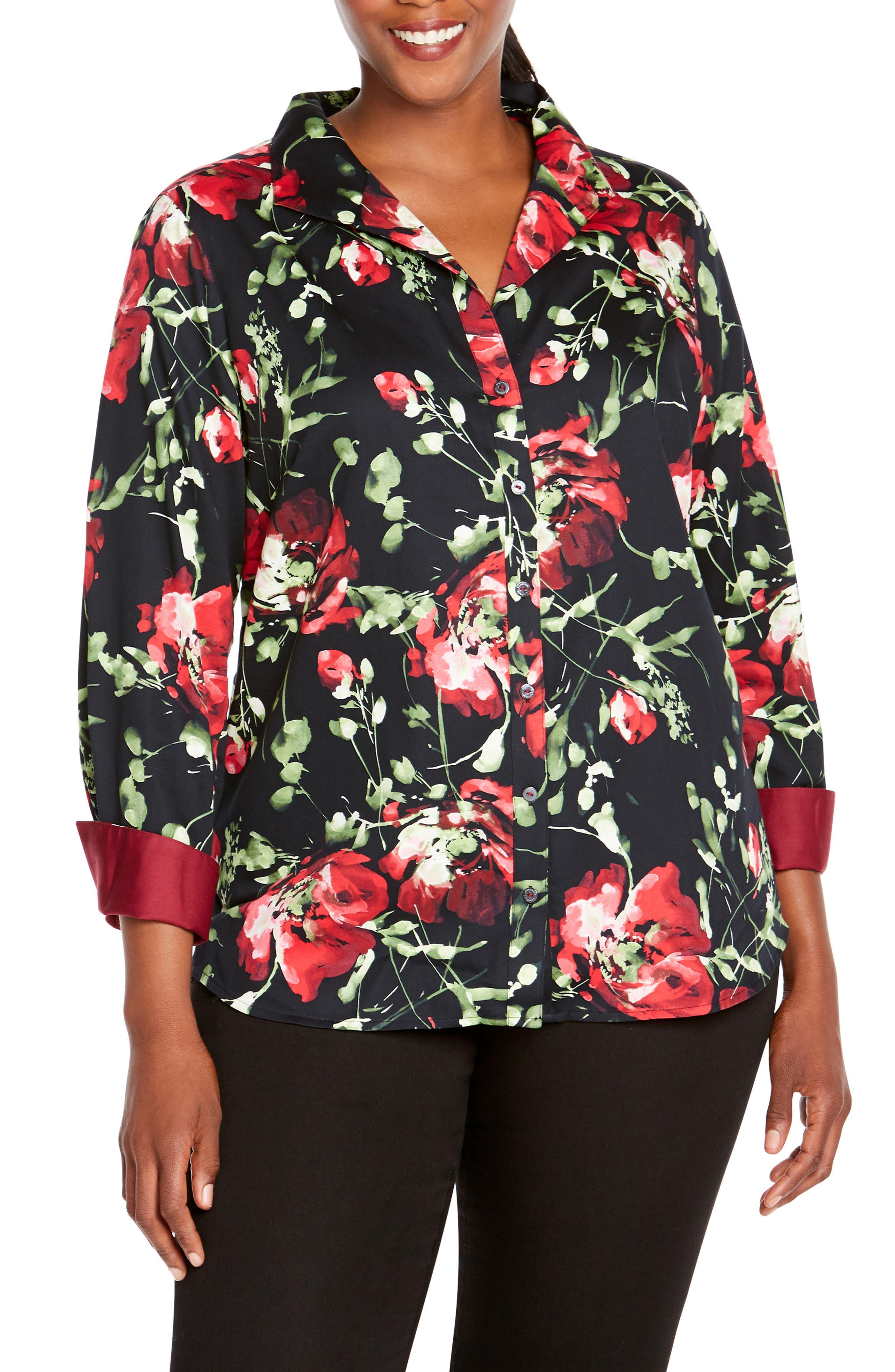 Rhonda in Dreamy Floral Shirt, Main, color, MULTI