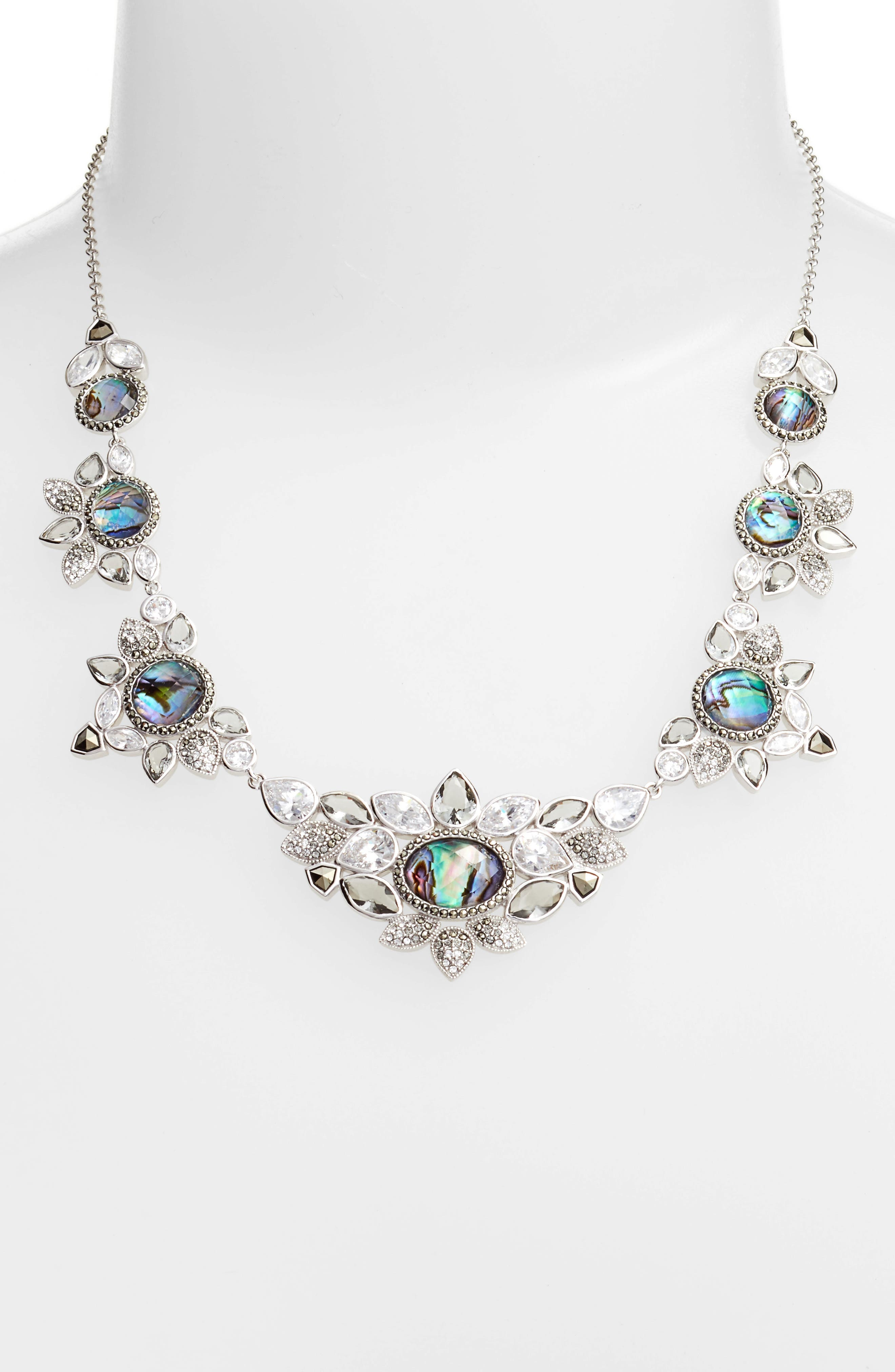 Crystal Collar Necklace,                             Alternate thumbnail 2, color,                             400