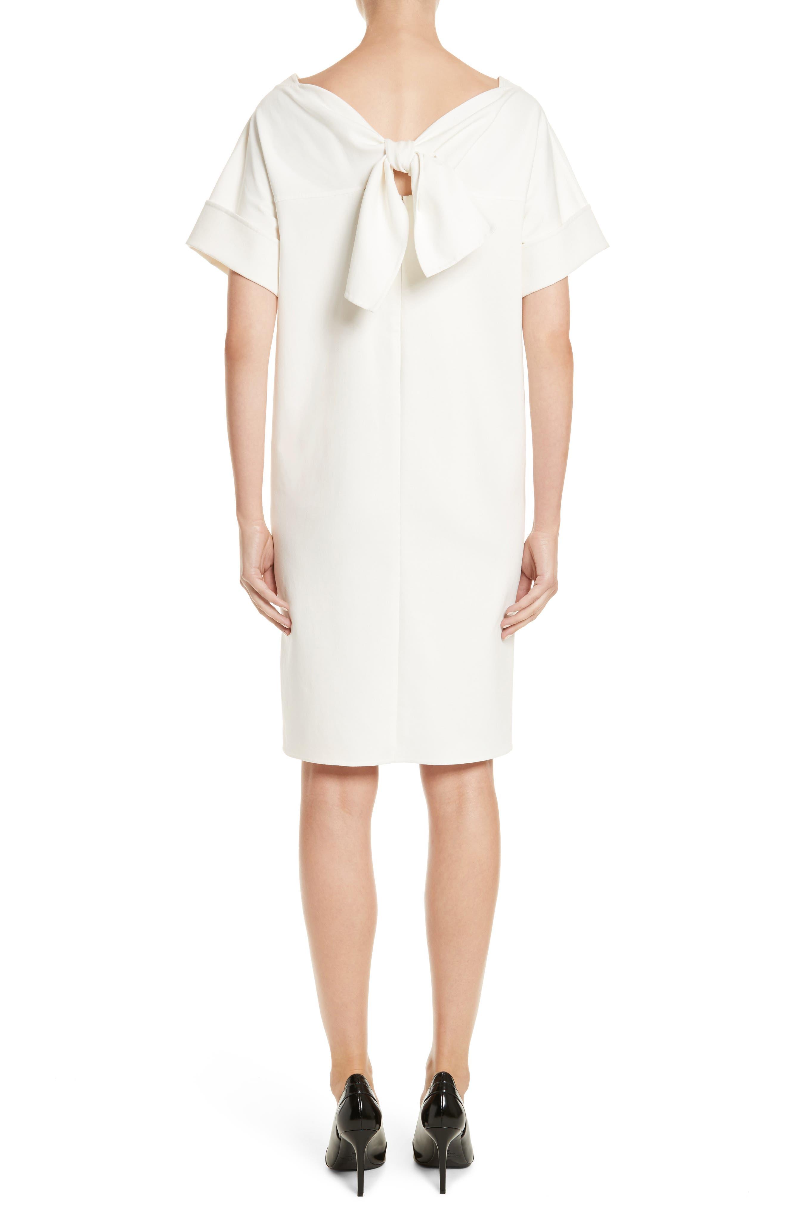 Double Face Stretch Cotton Back Tie Dress,                             Alternate thumbnail 2, color,                             900