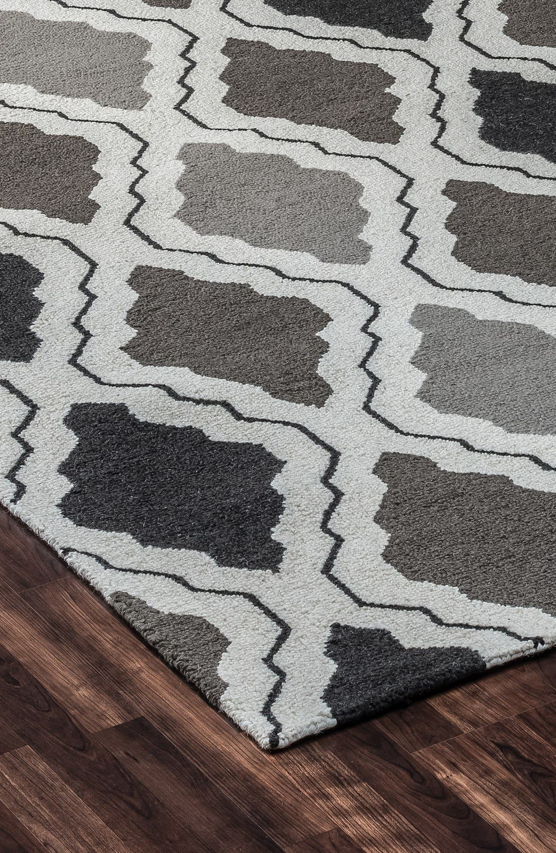 'Ogee' Wool Area Rug,                             Alternate thumbnail 4, color,                             030