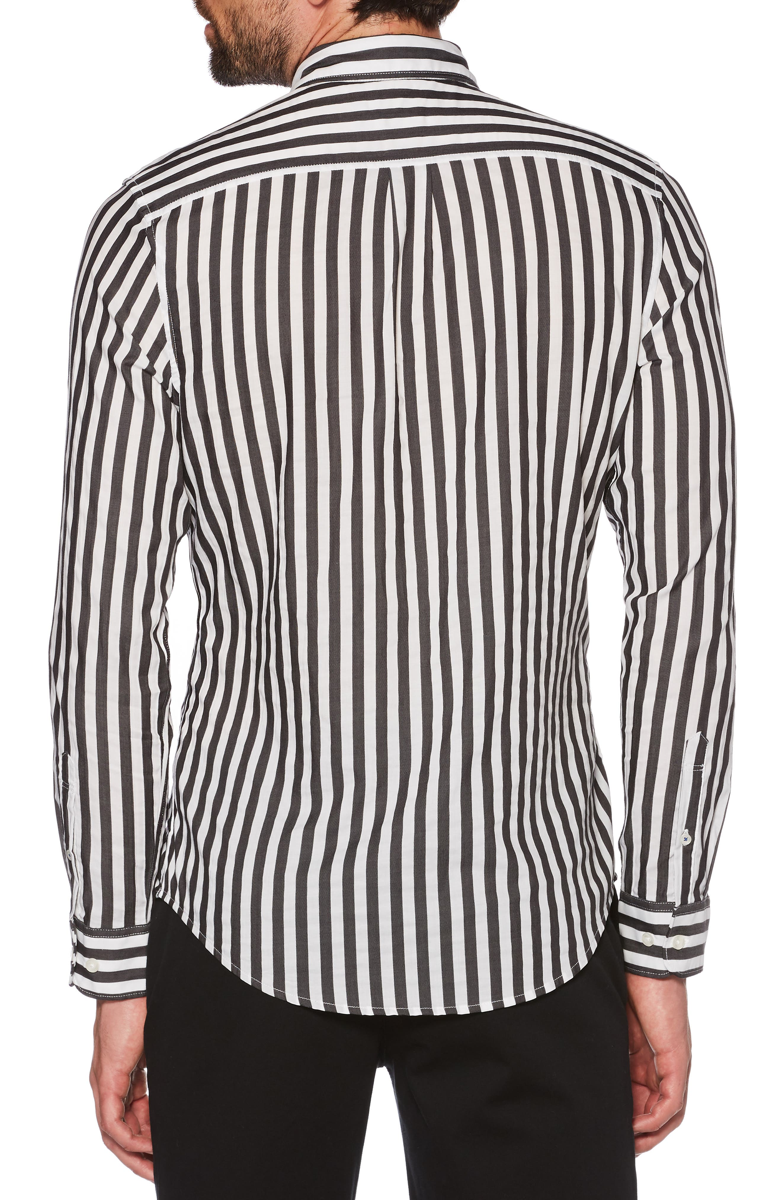 Slim Fit Striped Sport Shirt,                             Alternate thumbnail 2, color,                             010