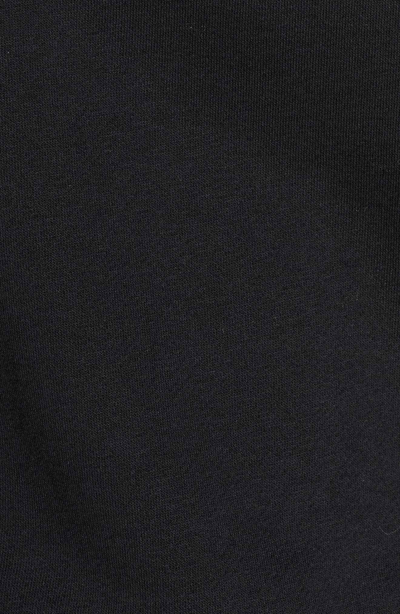 Sportswear Women's Half Zip Fleece Hoodie,                             Alternate thumbnail 6, color,                             BLACK/ BLACK/ ROSE GOLD