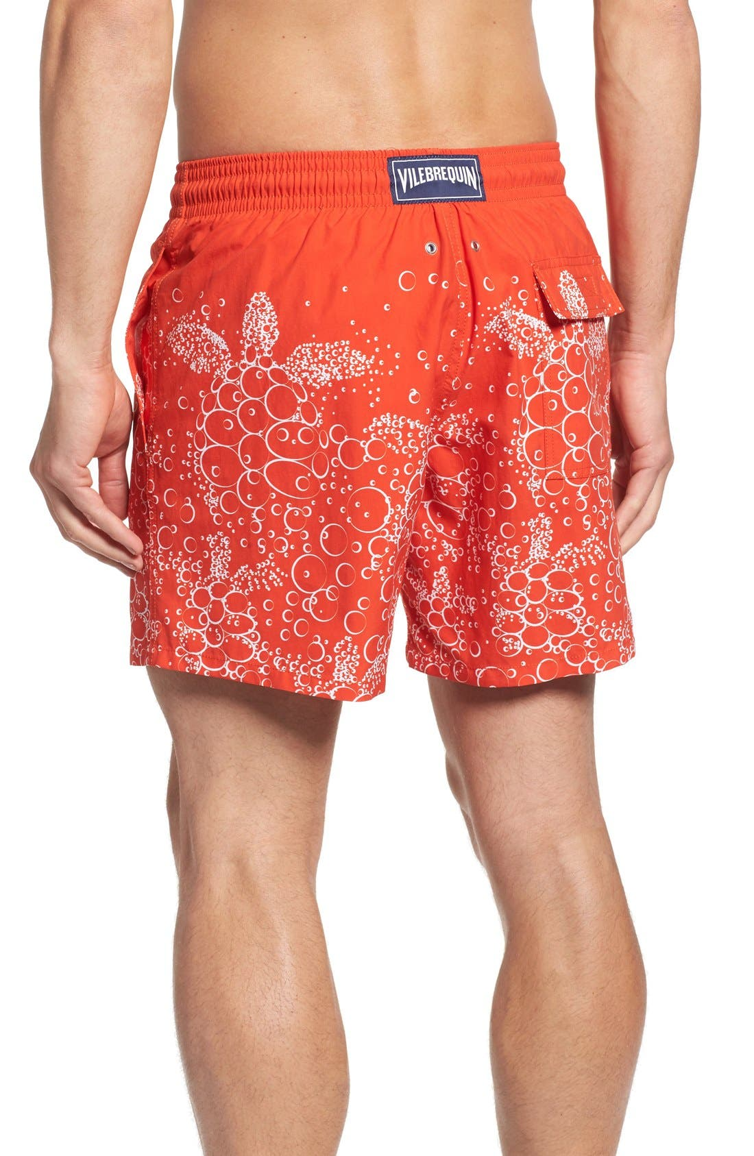 Bubble Turtle Print Swim Trunks,                             Alternate thumbnail 2, color,                             612