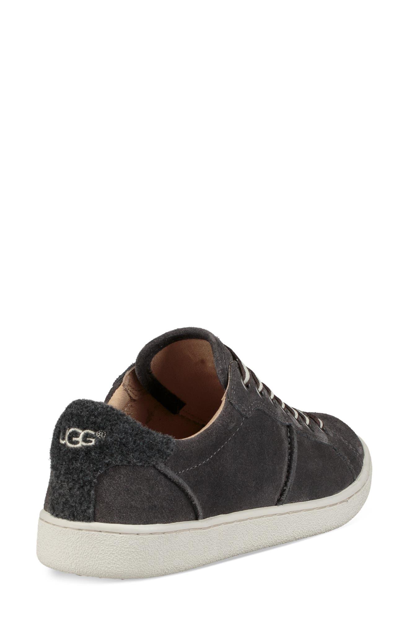 Milo Sneaker,                             Alternate thumbnail 2, color,                             CHARCOAL SUEDE