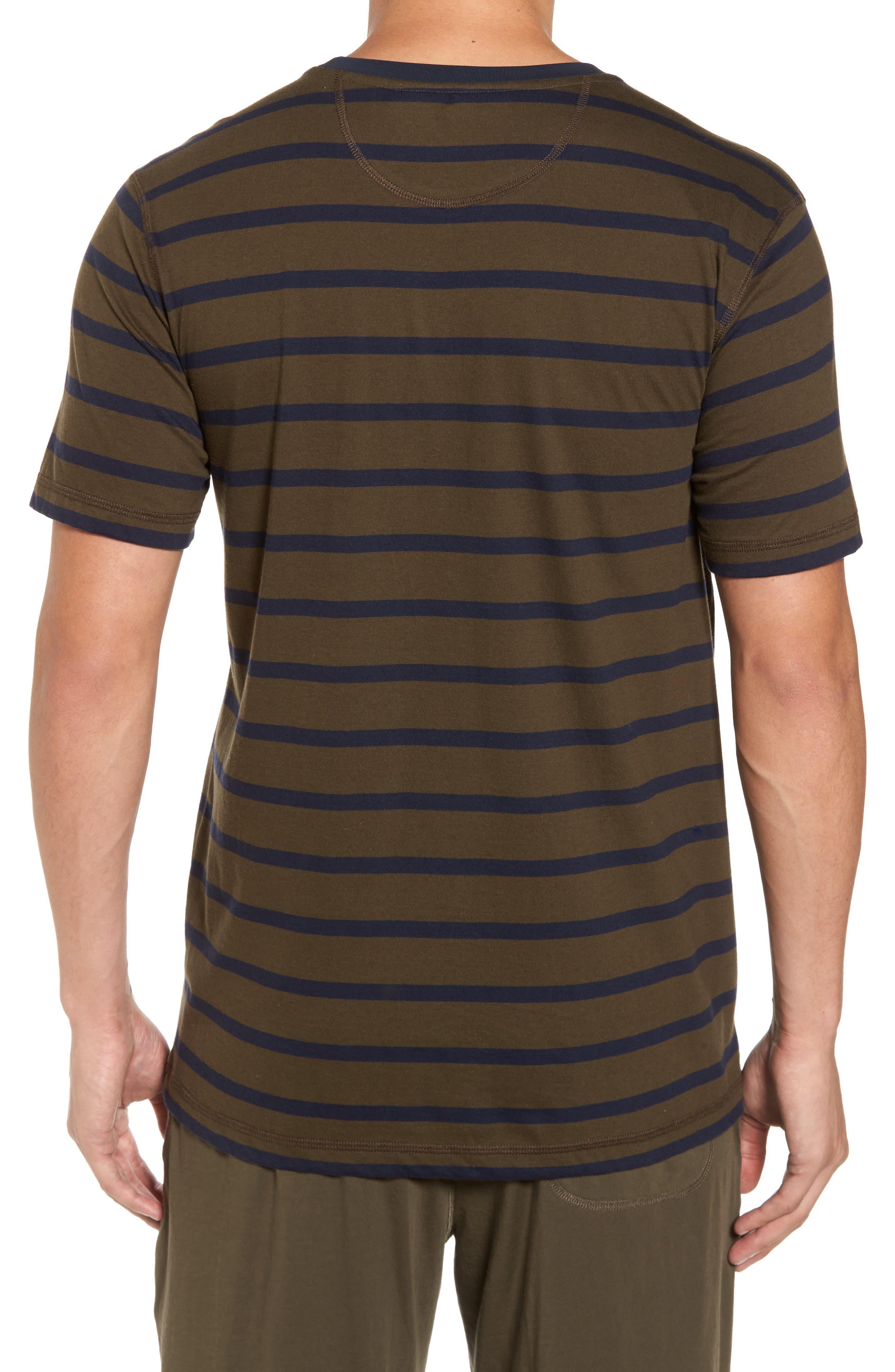 Peruvian Pima Cotton Stripe T-Shirt,                             Alternate thumbnail 2, color,                             395