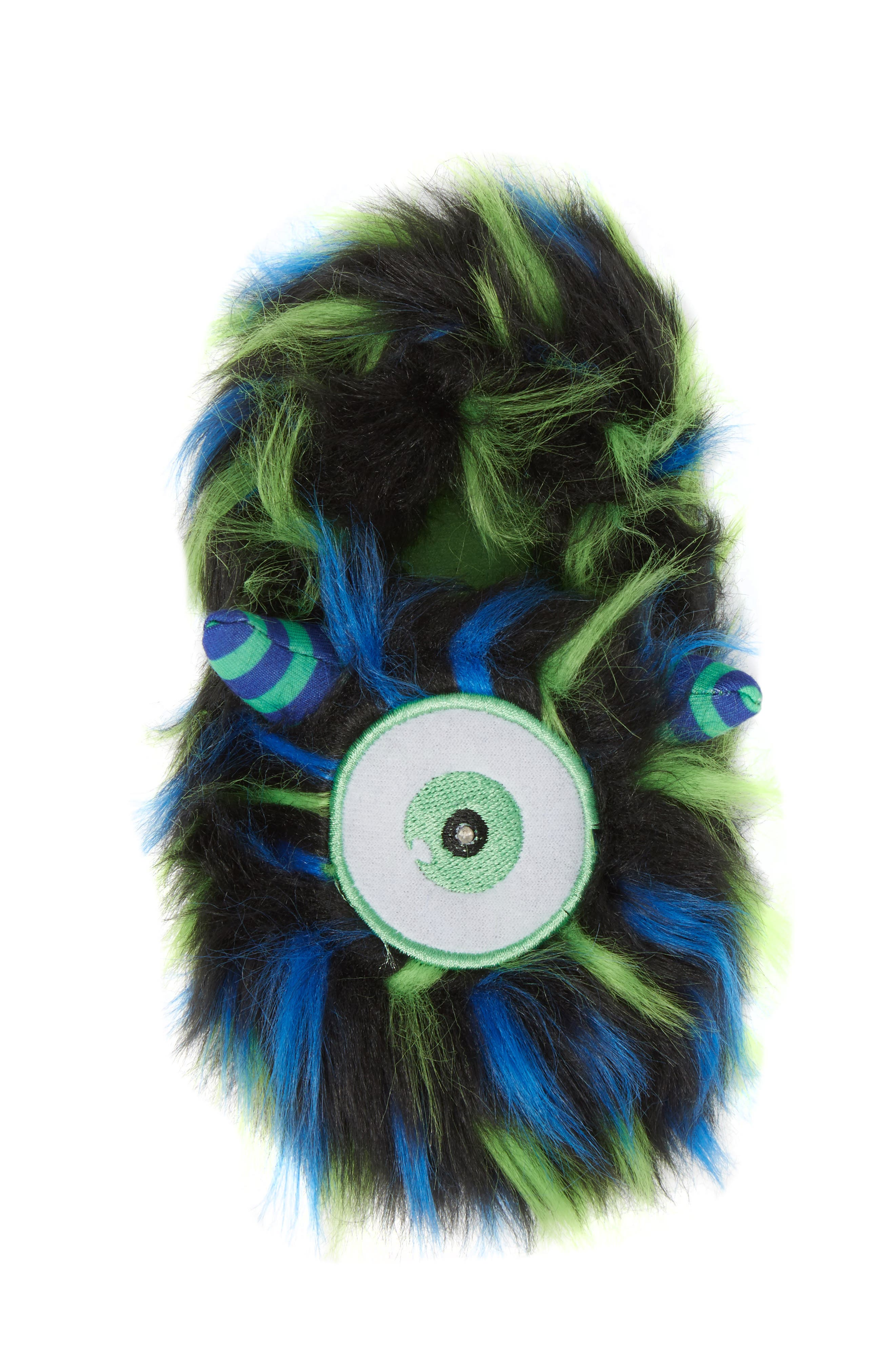 Cyclops Faux Fur Light-Up Eye Slipper,                             Alternate thumbnail 5, color,                             BLUE