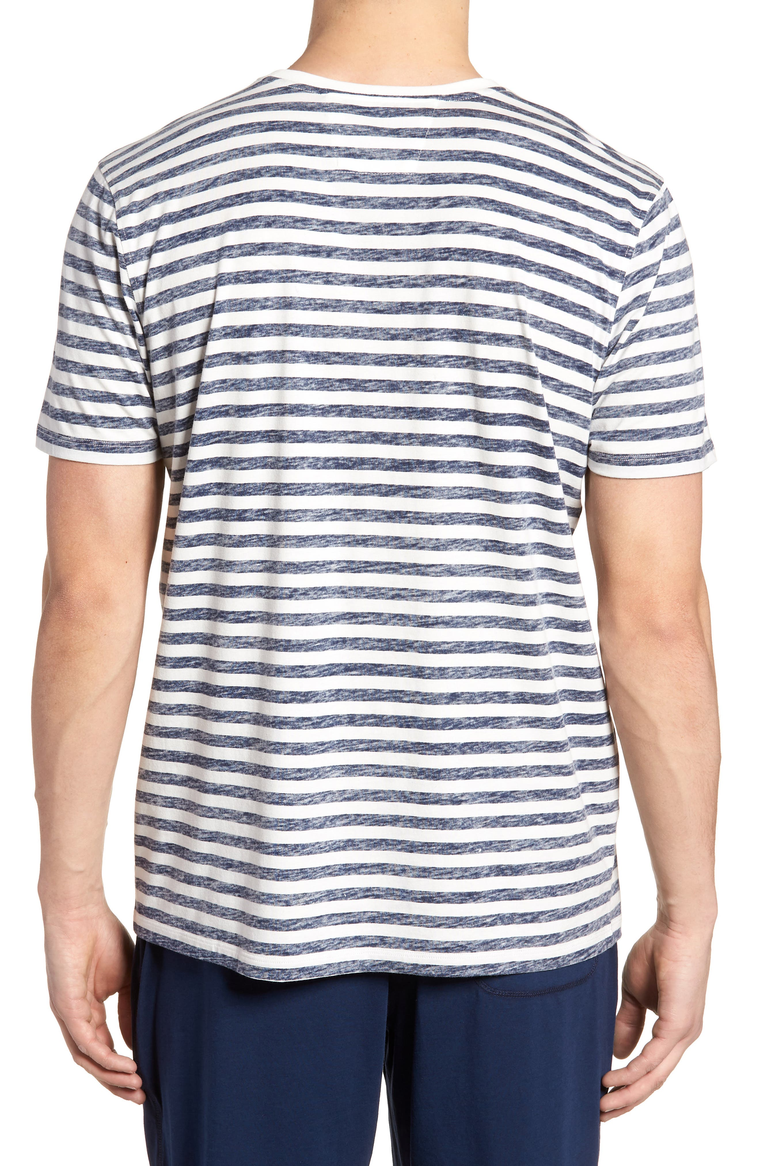 Stripe T-Shirt,                             Alternate thumbnail 2, color,                             NAVY STRIPE