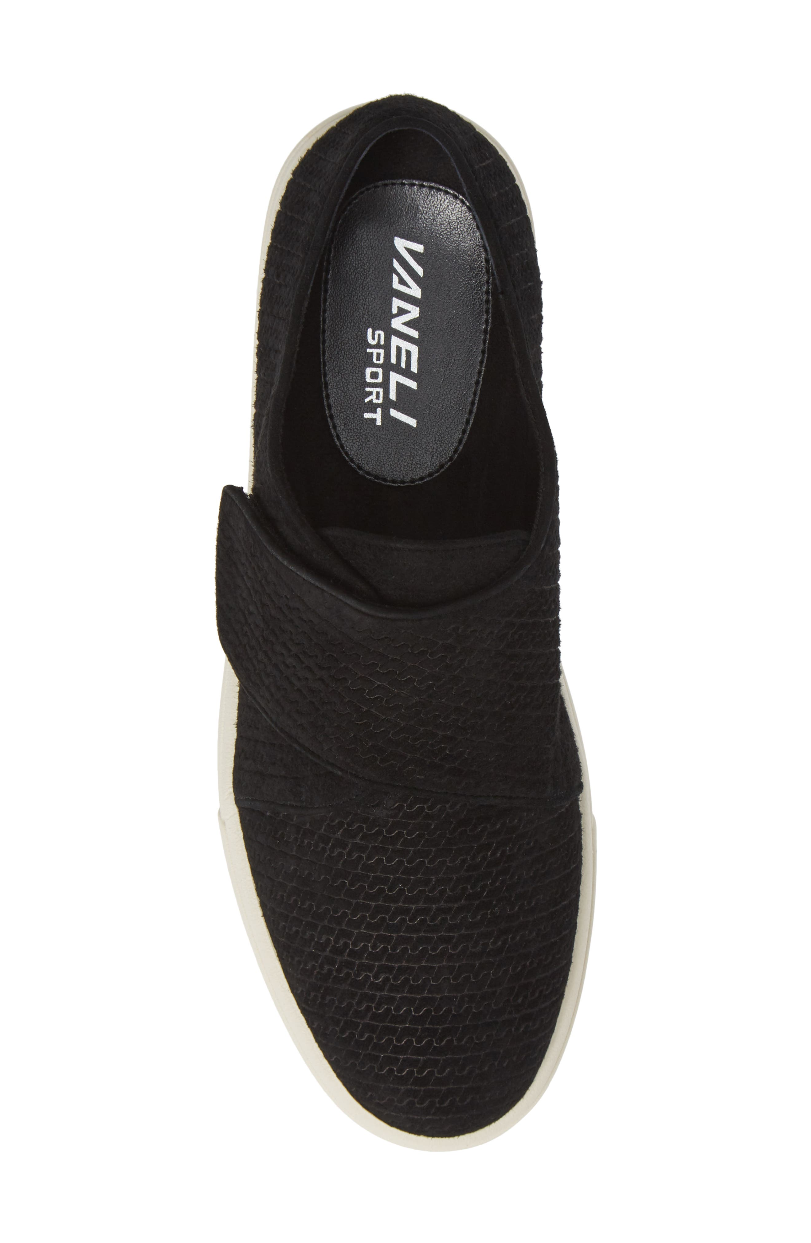 VANELI,                             Oberon Slip-On Sneaker,                             Alternate thumbnail 5, color,                             BLACK SUEDE