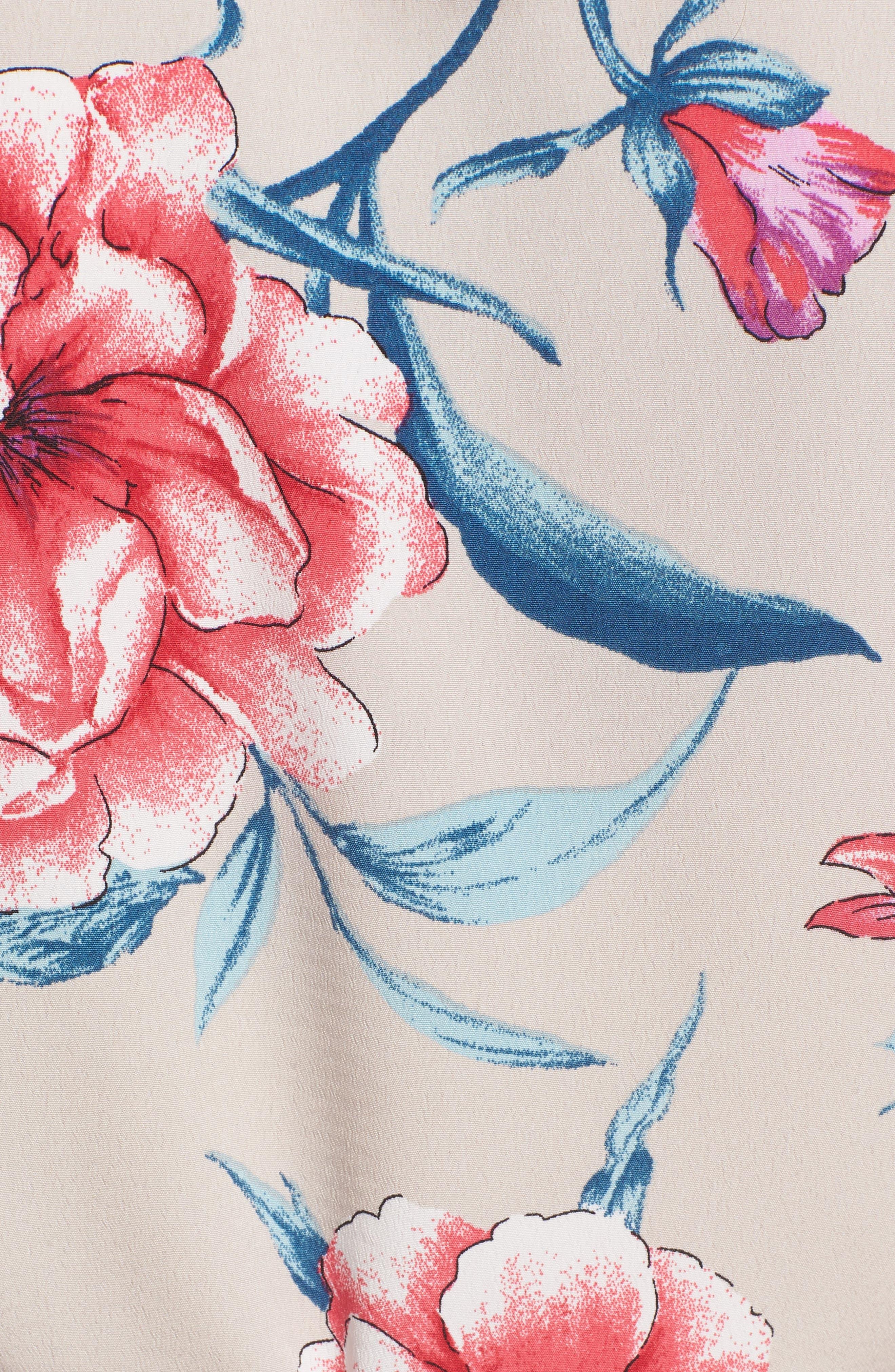 Lucy Floral Wrap Dress,                             Alternate thumbnail 18, color,