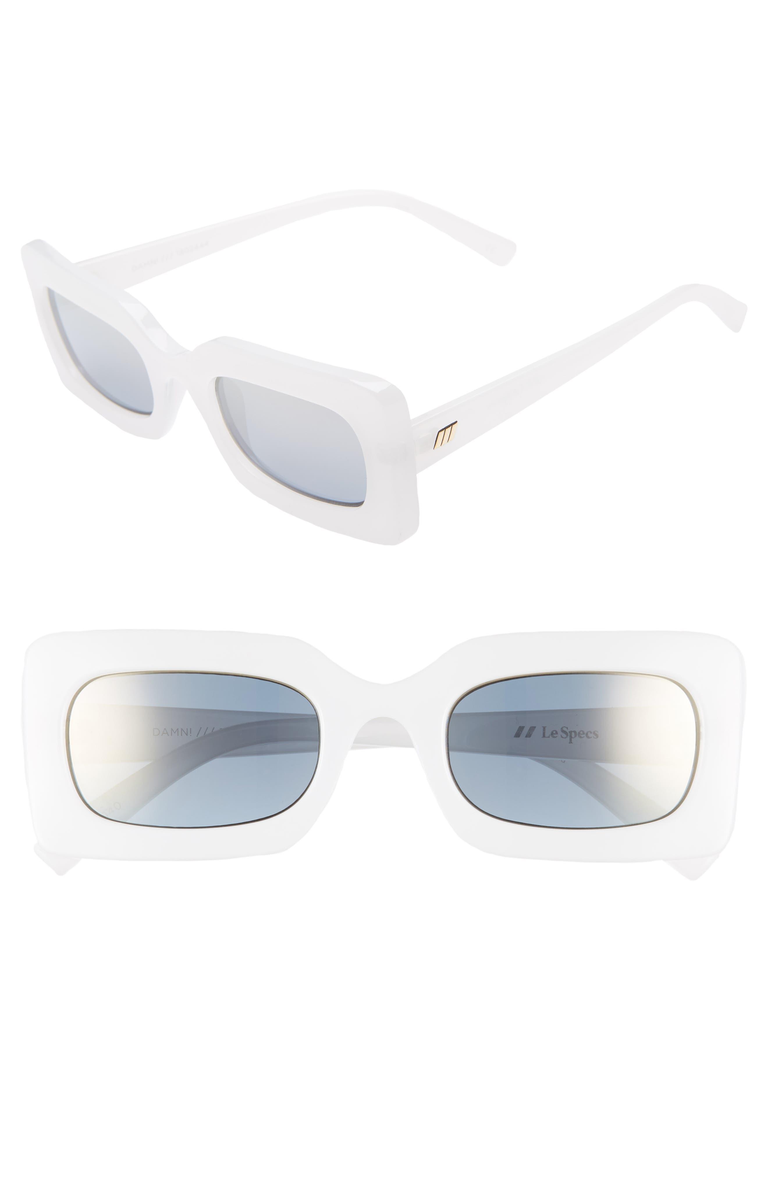 Le Specs 50Mm Rectangle Sunglasses - Salt