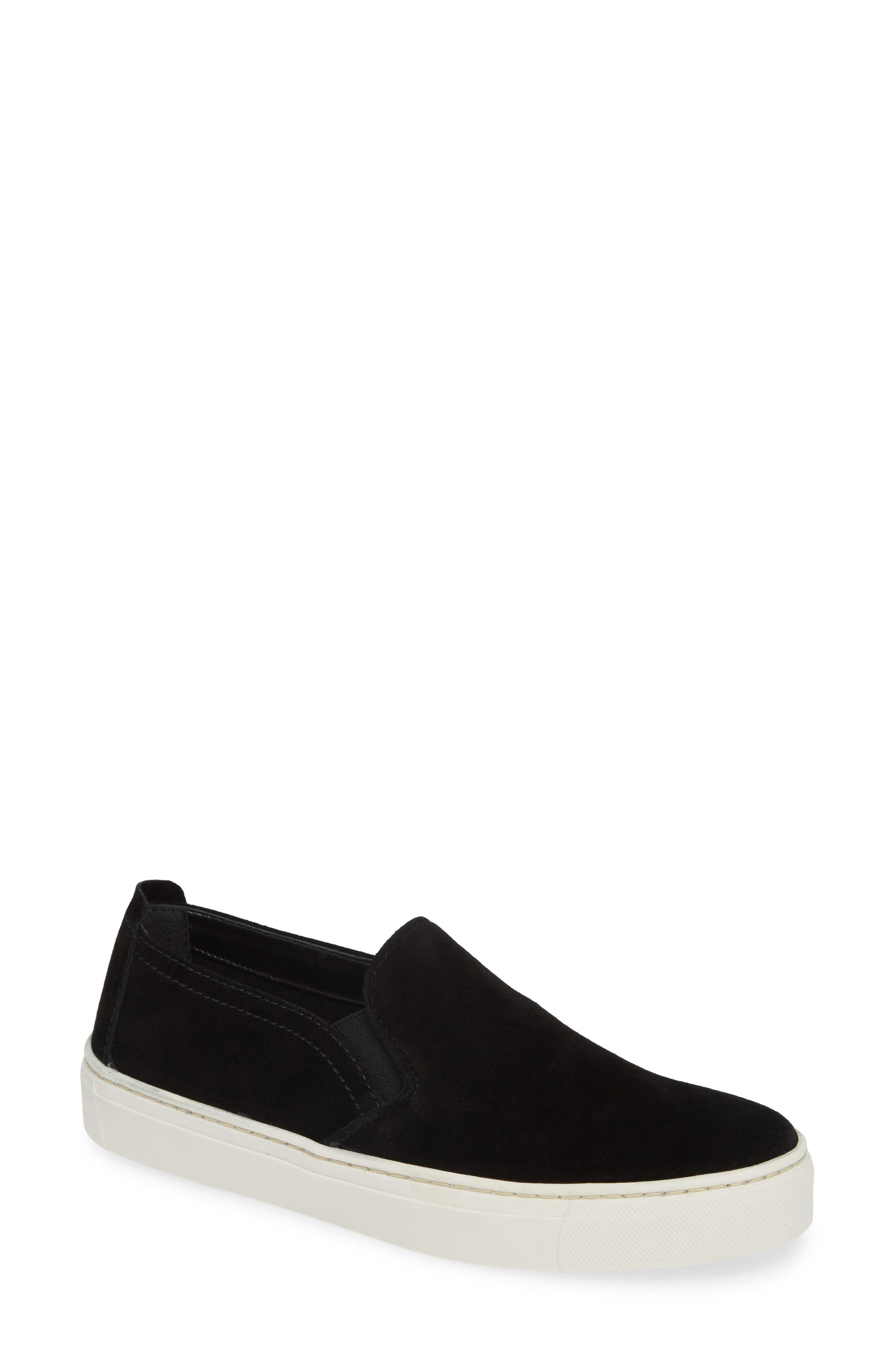 'Sneak Name' Sneaker,                             Main thumbnail 1, color,                             BLACK WATERPROOF SUEDE