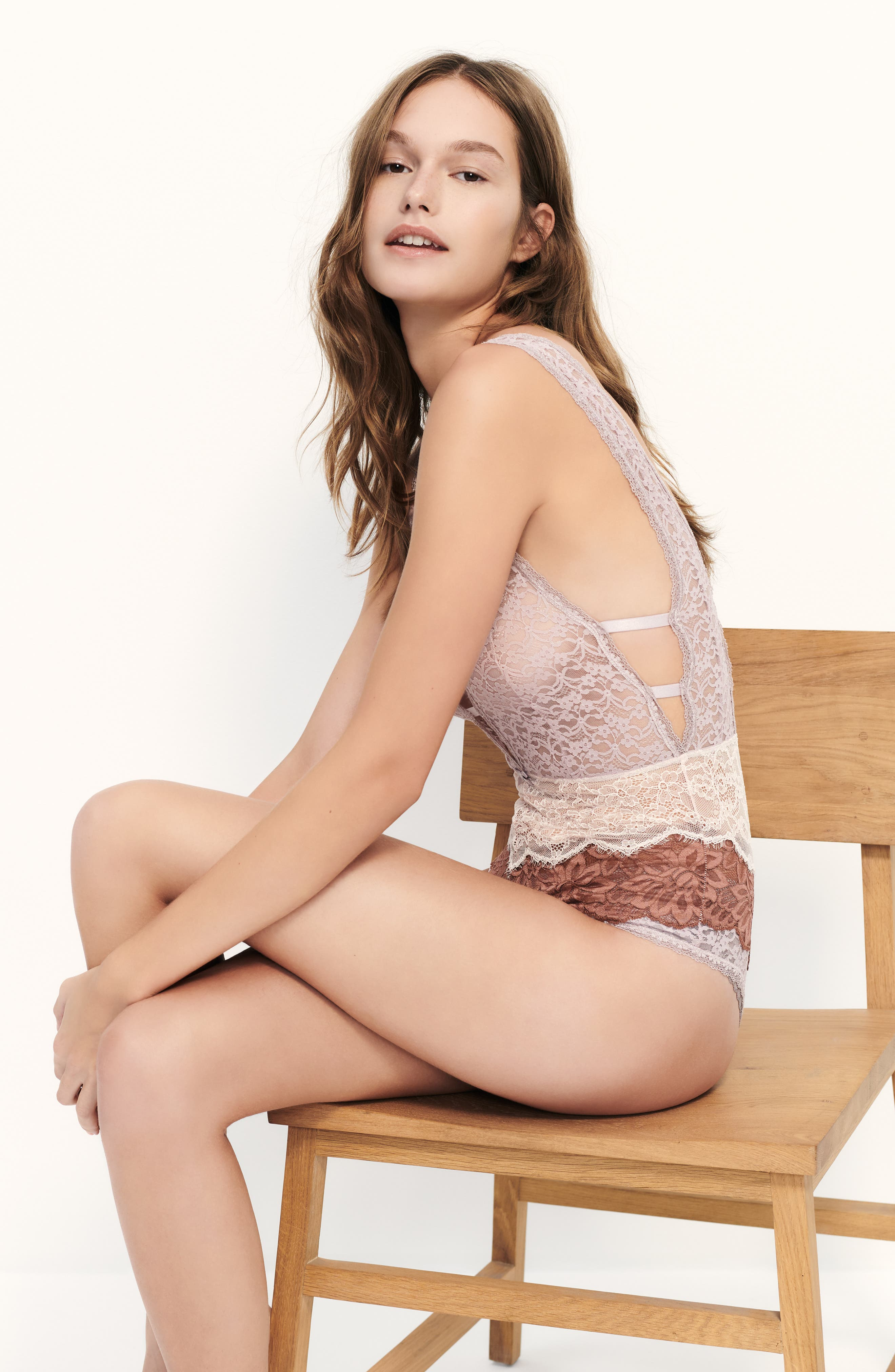Free People Intimately FP Not Yours Bodysuit,                             Alternate thumbnail 7, color,                             BLACK COMBO