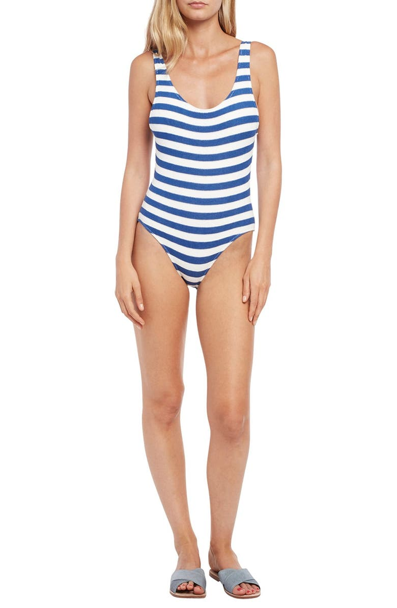 856a2af9e4 Solid   Striped  The Anne-Marie  Scoop Back One-Piece Swimsuit ...
