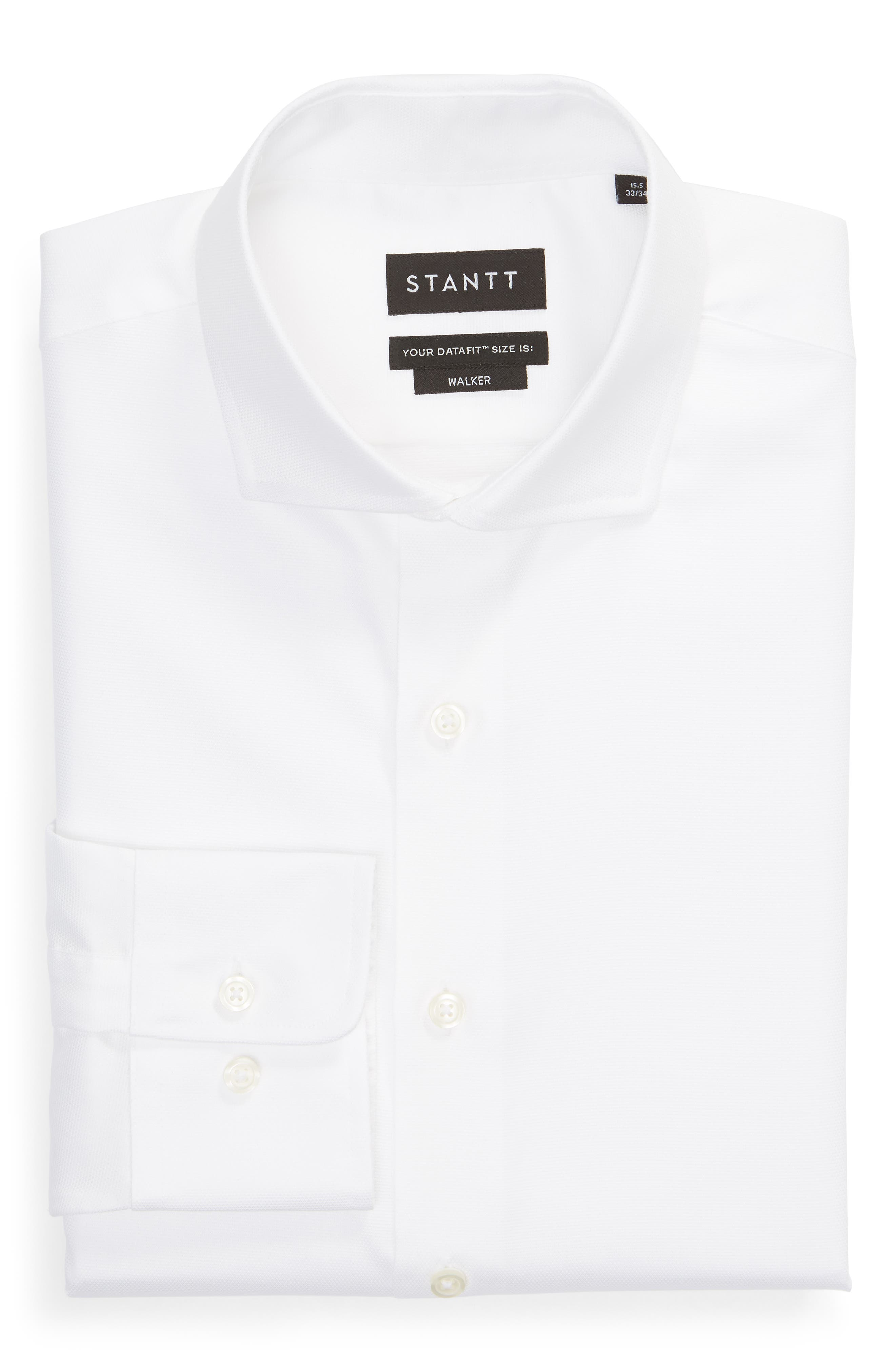 Classic Fit Solid Dress Shirt,                             Alternate thumbnail 5, color,                             WHITE