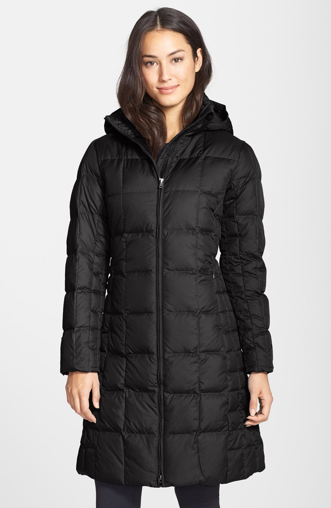 'Down With It' Quilted Down Parka, Main, color, 001