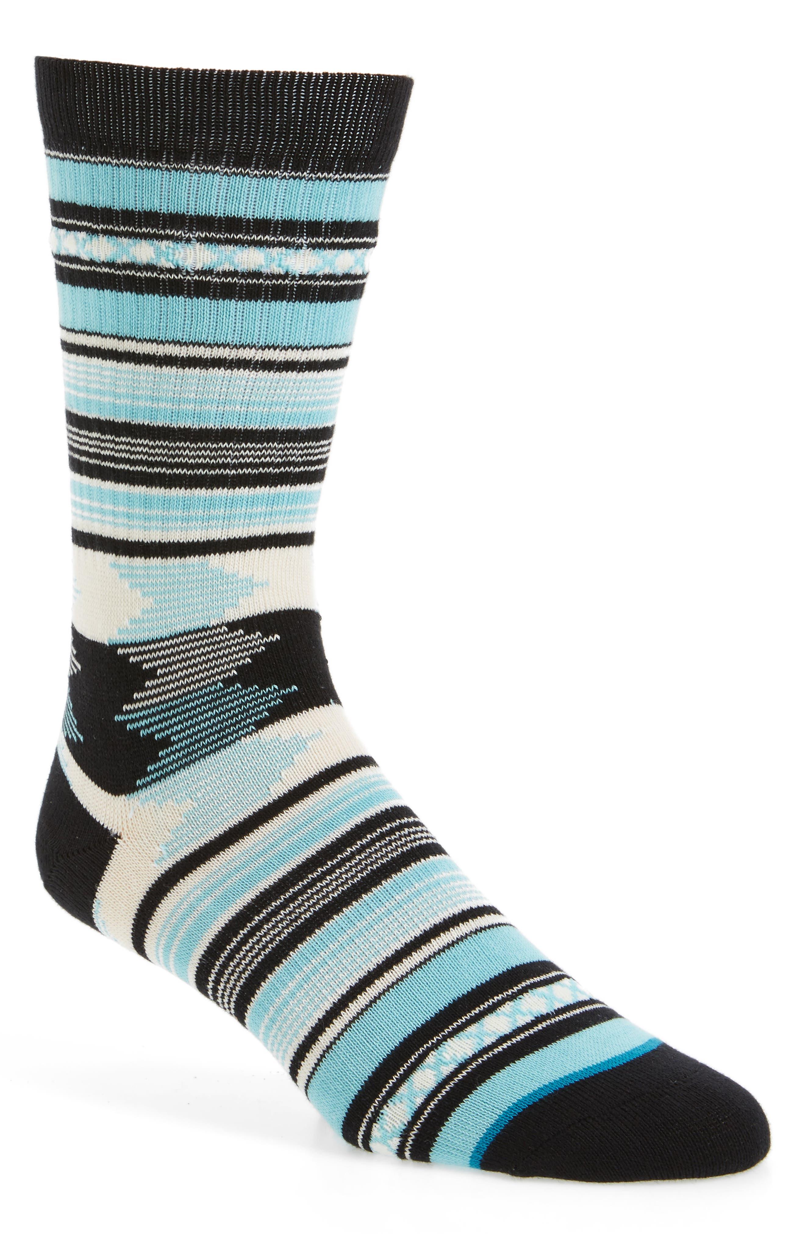Guadalupe Stripe Socks,                             Main thumbnail 1, color,                             420