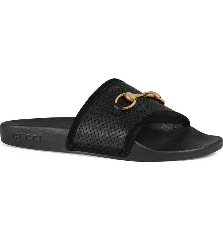 d0978318b57eb0 Gucci Pursuit Horsebit Slide Sandal (Women)