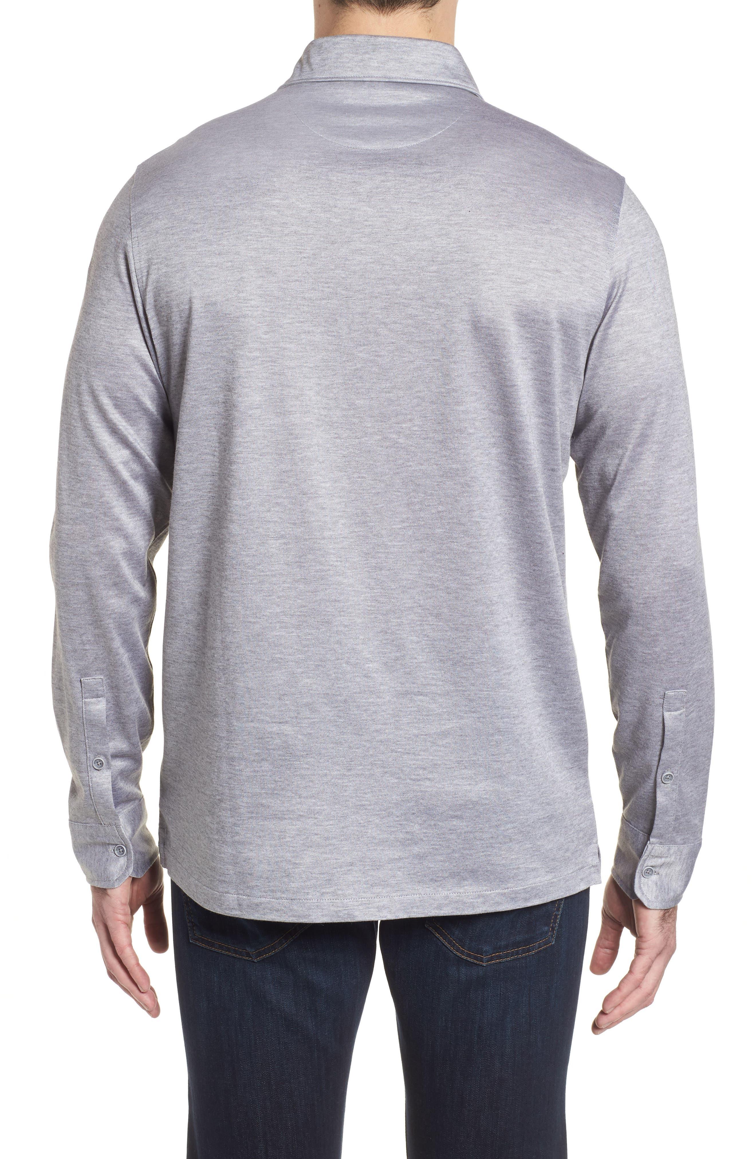 Regular Fit Silk Blend Sport Shirt,                             Alternate thumbnail 7, color,