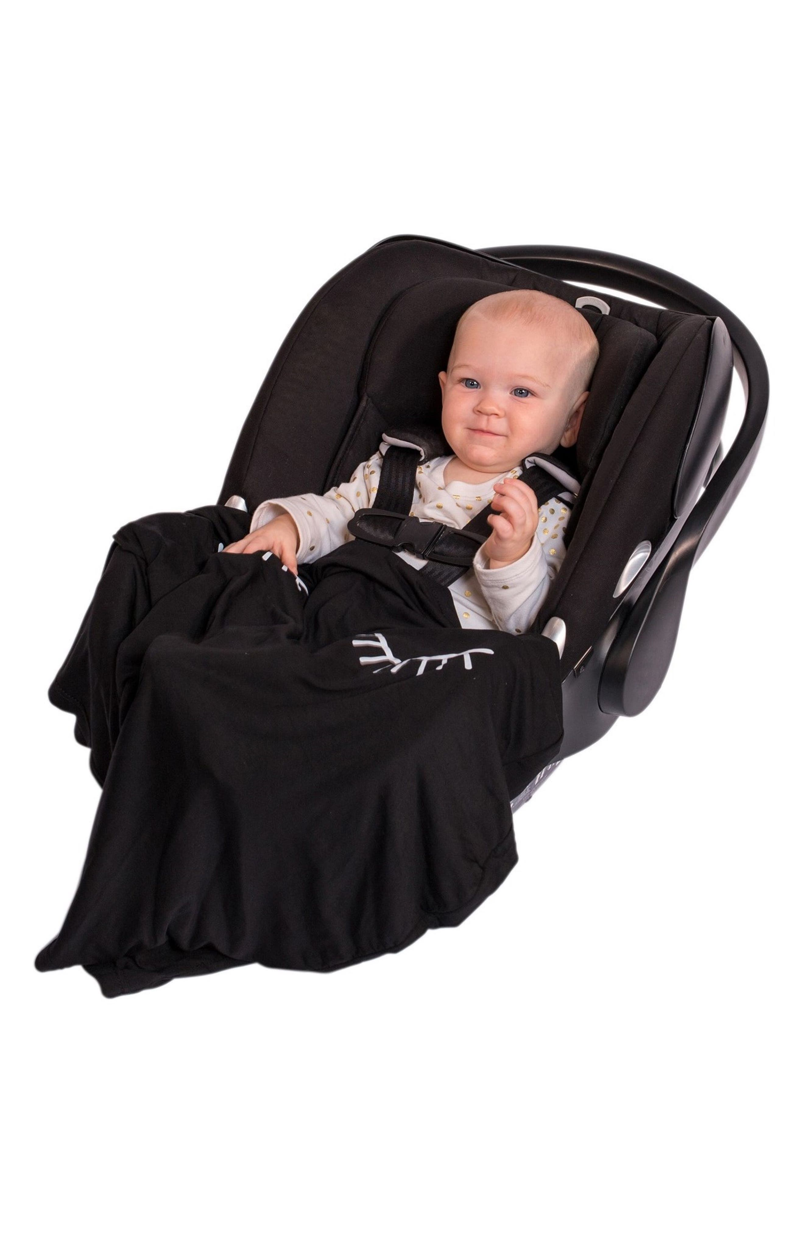 ROSIE POPE,                             5-in-1 Car Seat Cover,                             Alternate thumbnail 6, color,                             BLACK LASHES